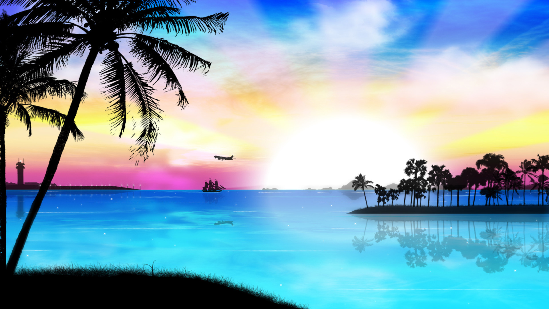 Beach paradise wallpaper wallpapertag - Paradise pictures backgrounds ...