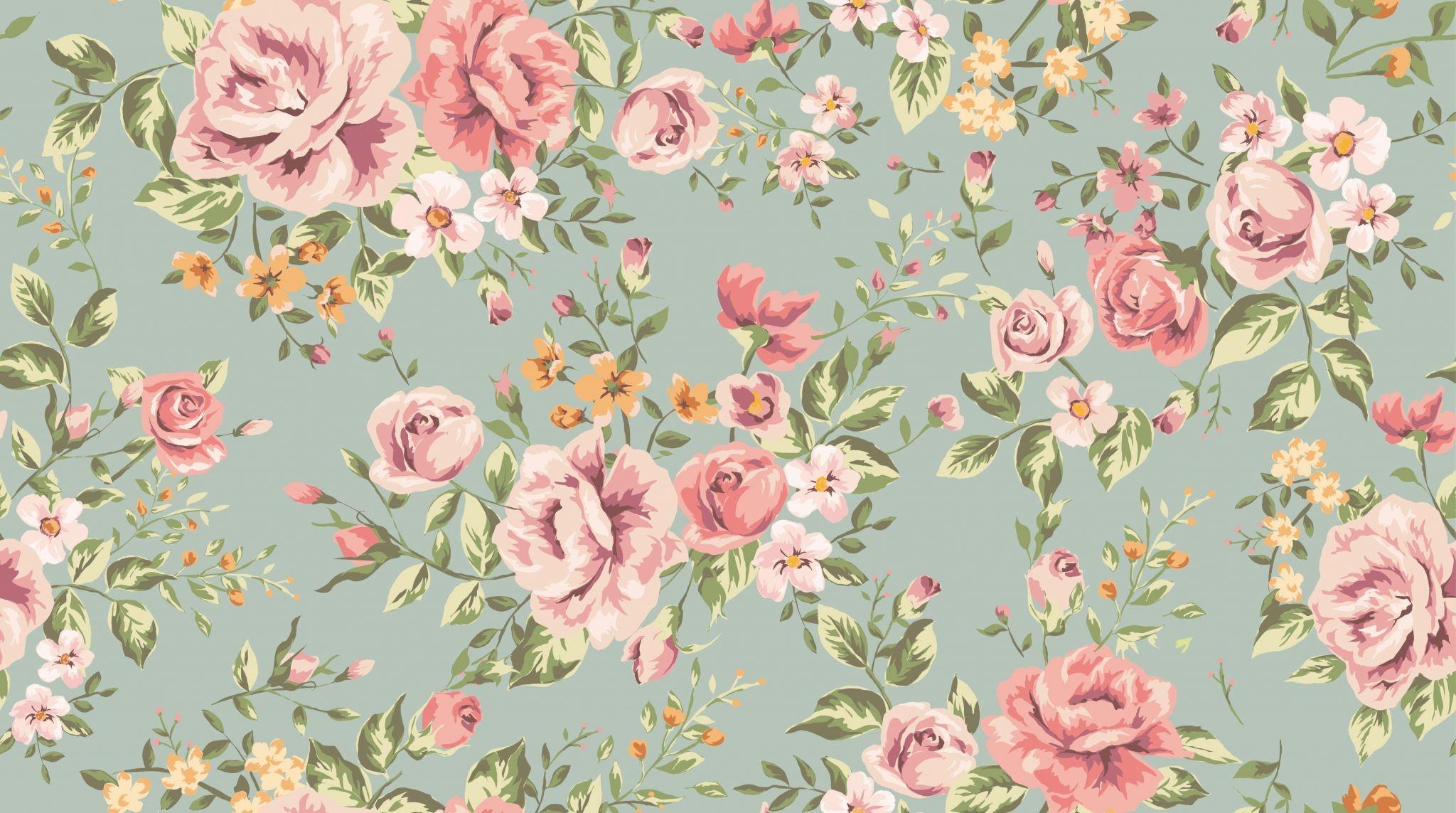 Vintage Flower Backgrounds ·① WallpaperTag