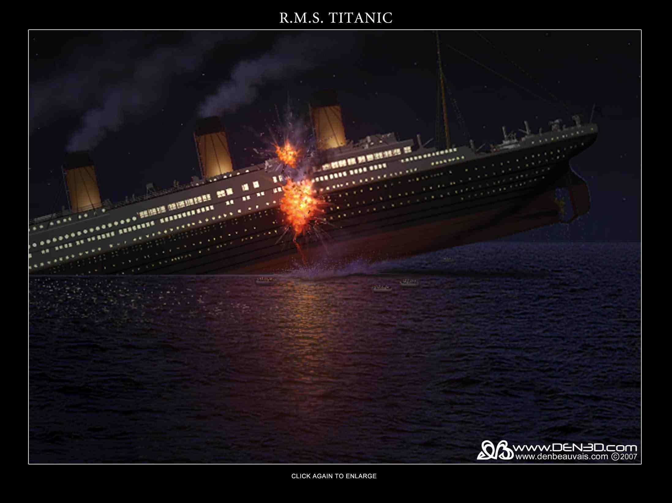 Titanic Sinking Wallpaper ①