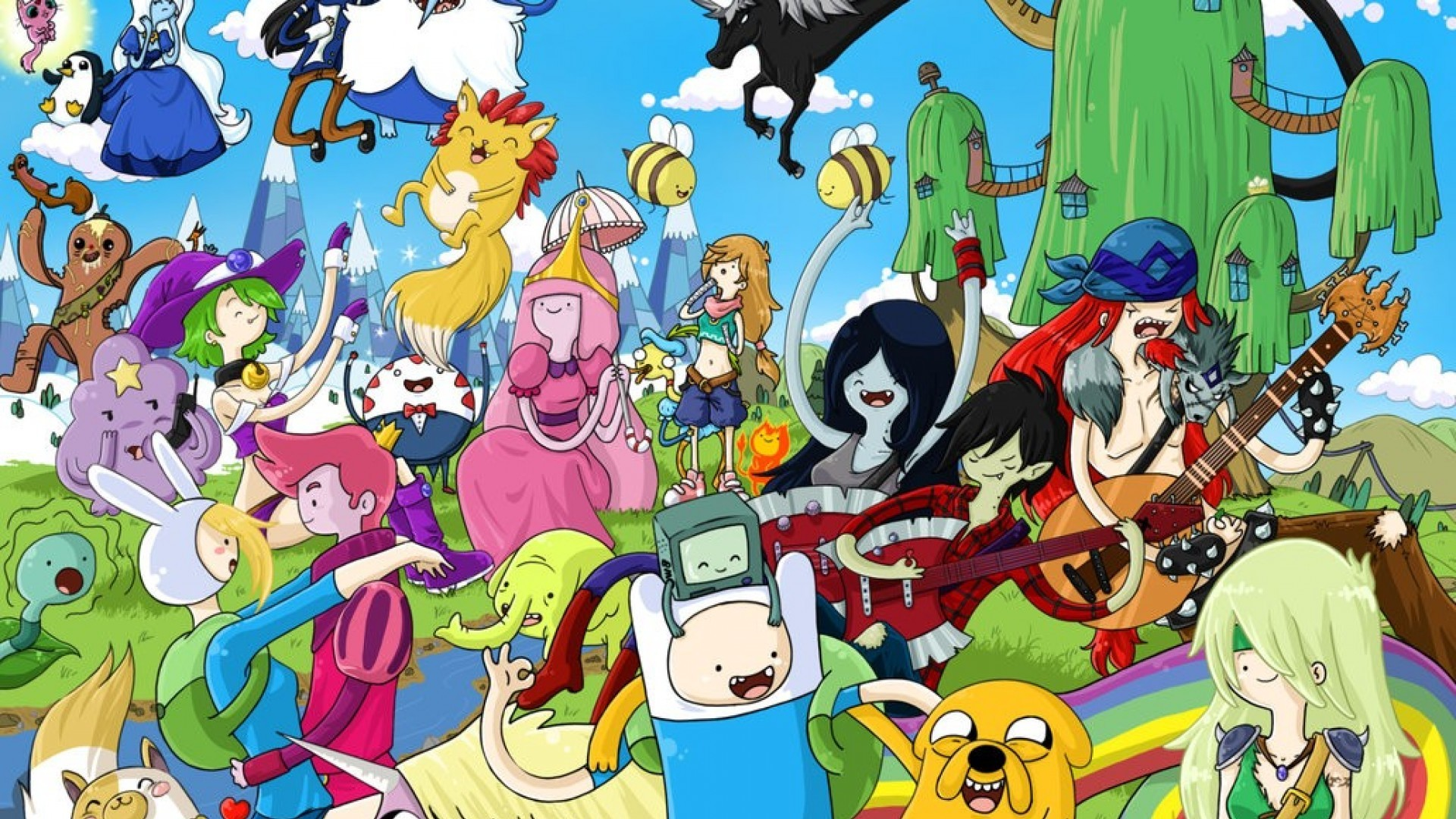 Adventure time wallpaper all characters adventure time wallpaper all characters voltagebd Choice Image