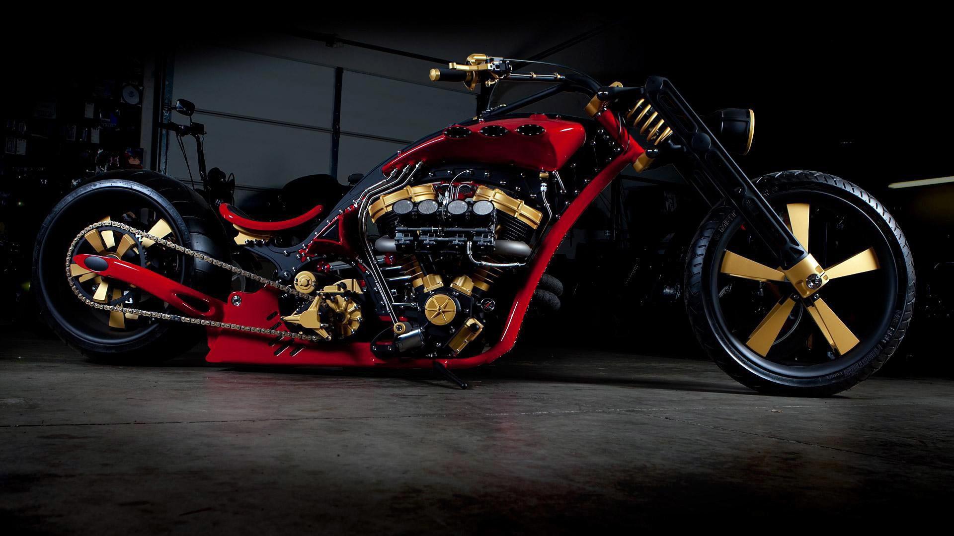 Vehicles - Chopper Motorcycle Custom Wallpaper