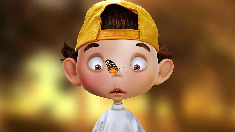 Funny cartoon boy 3d wallpaper · Download · Face ...