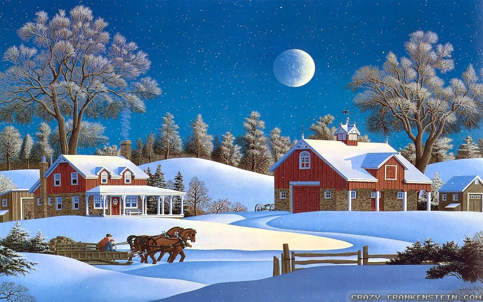 wallpaper christmas scenes  u00b7 u2460 wallpapertag