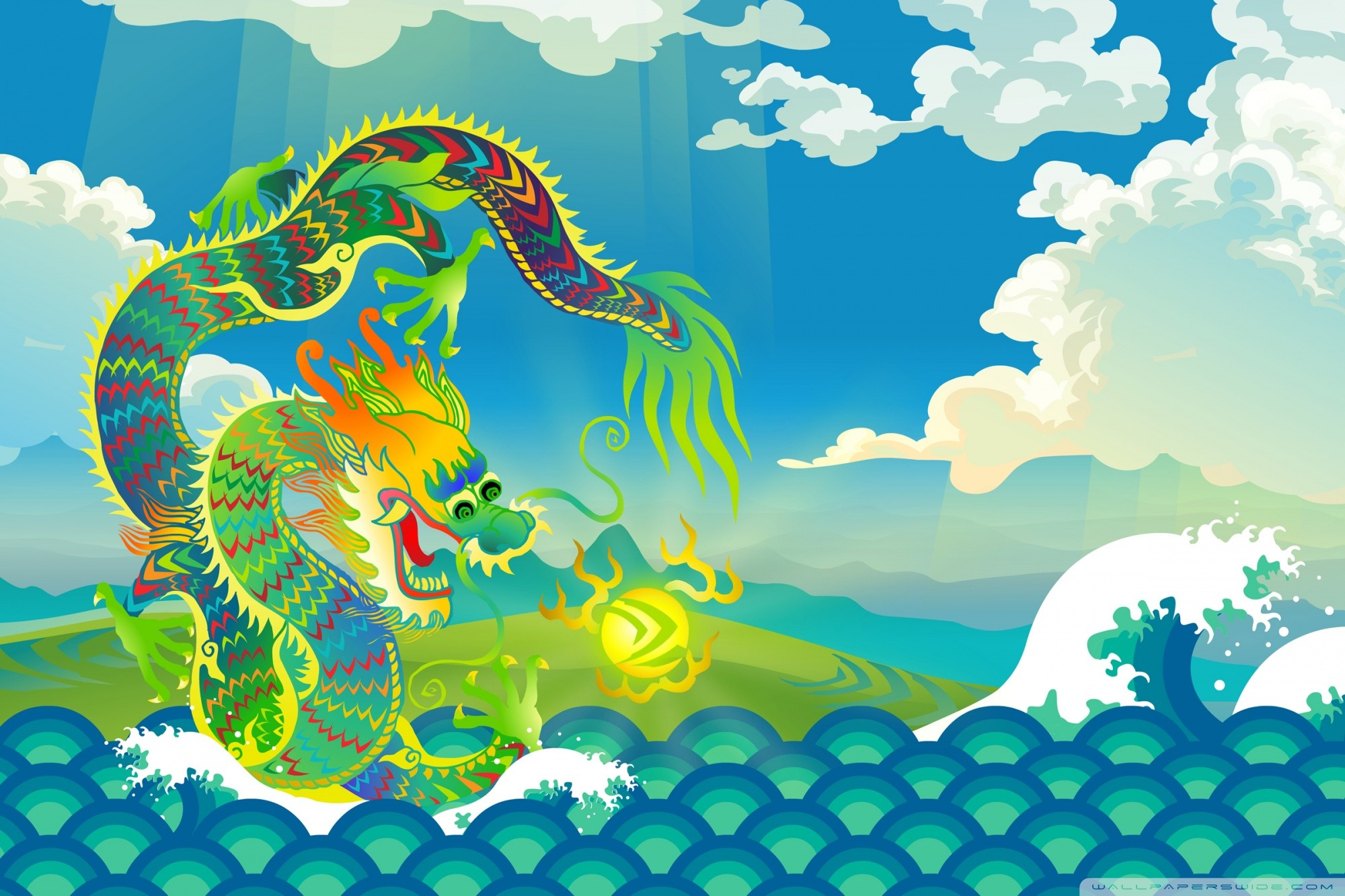 water dragon wallpaper 183��