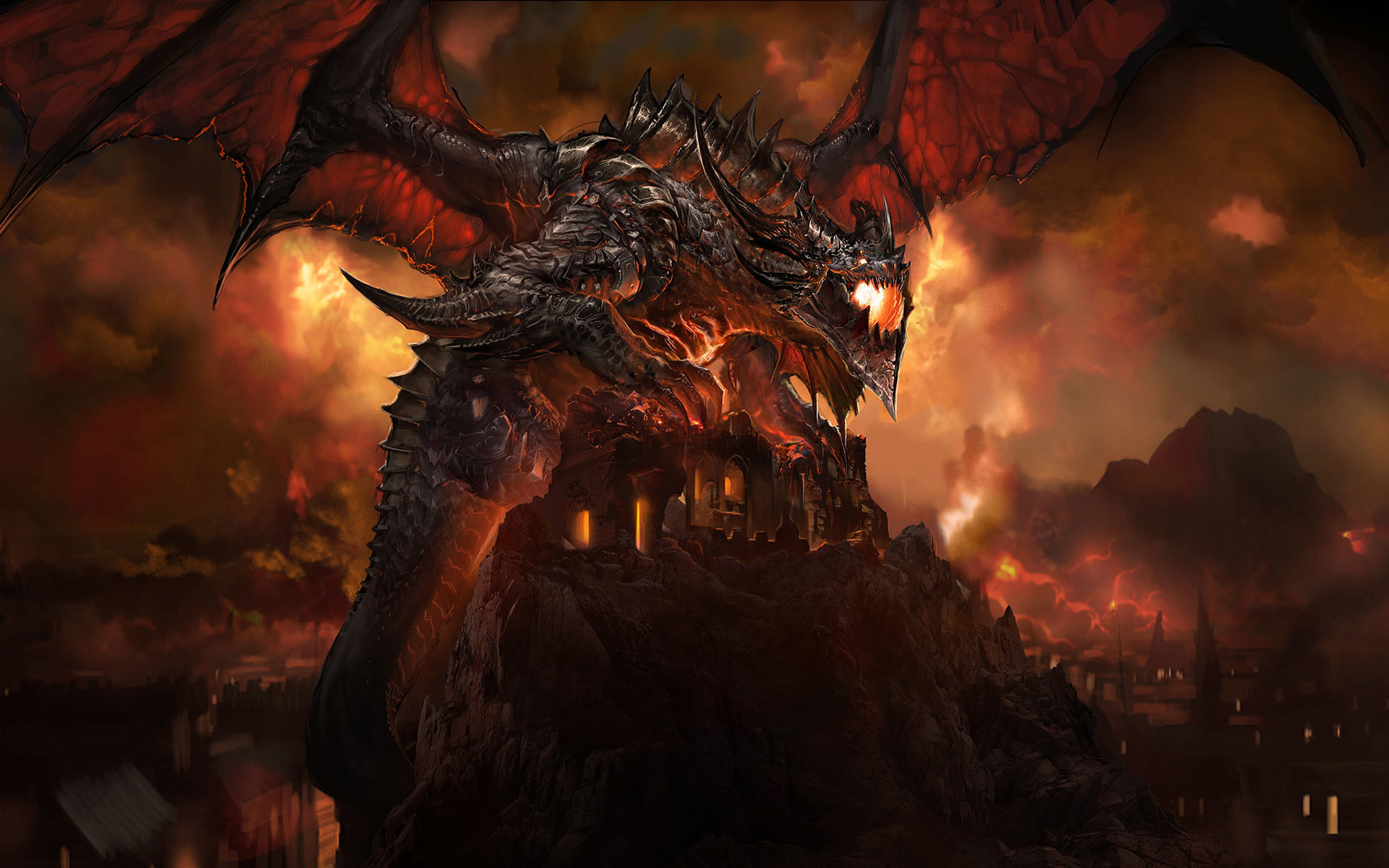 Epic dragon wallpaper wallpapertag - Dragon backgrounds 1920x1080 ...