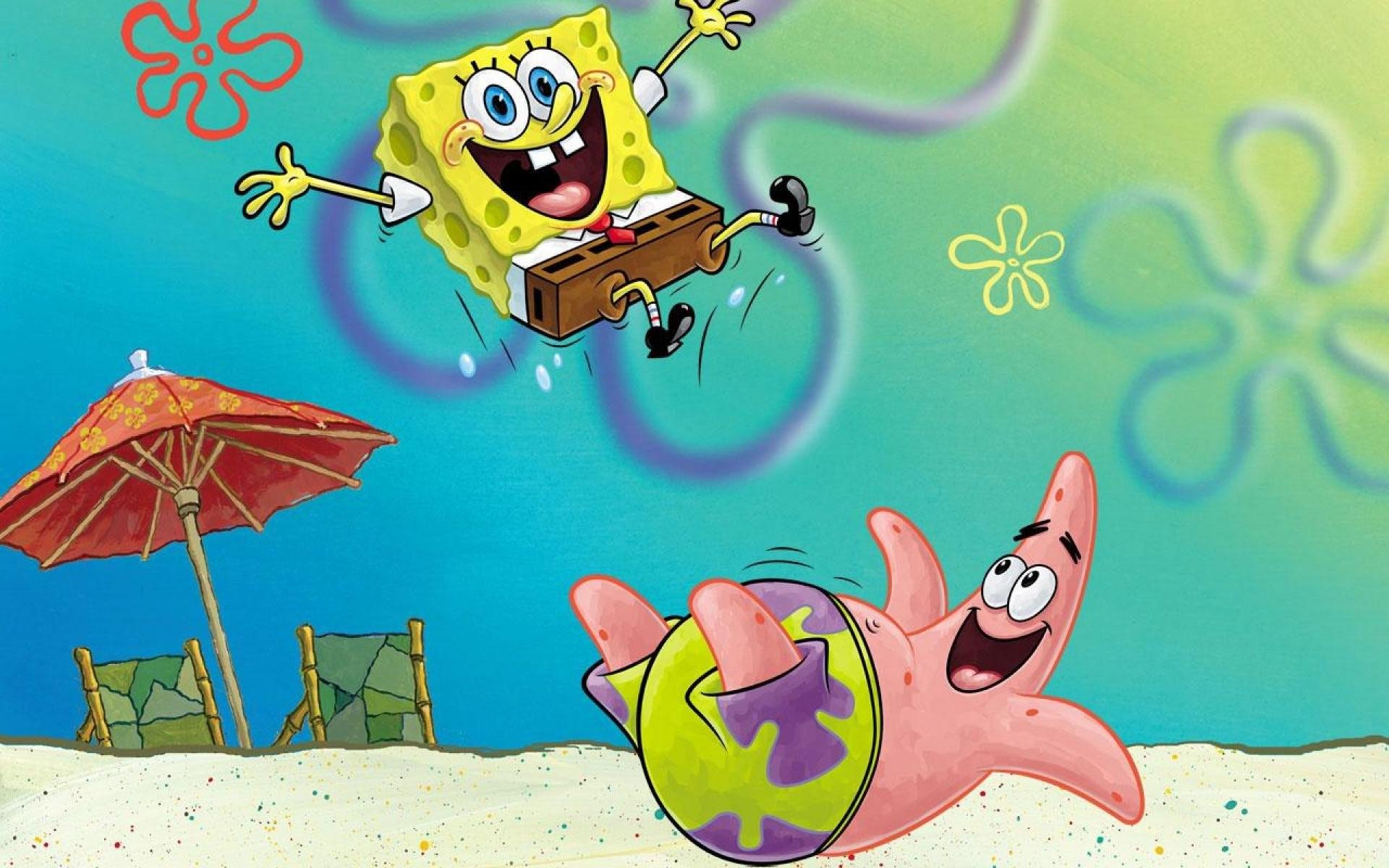 Spongebob Flower Sky Background ·①