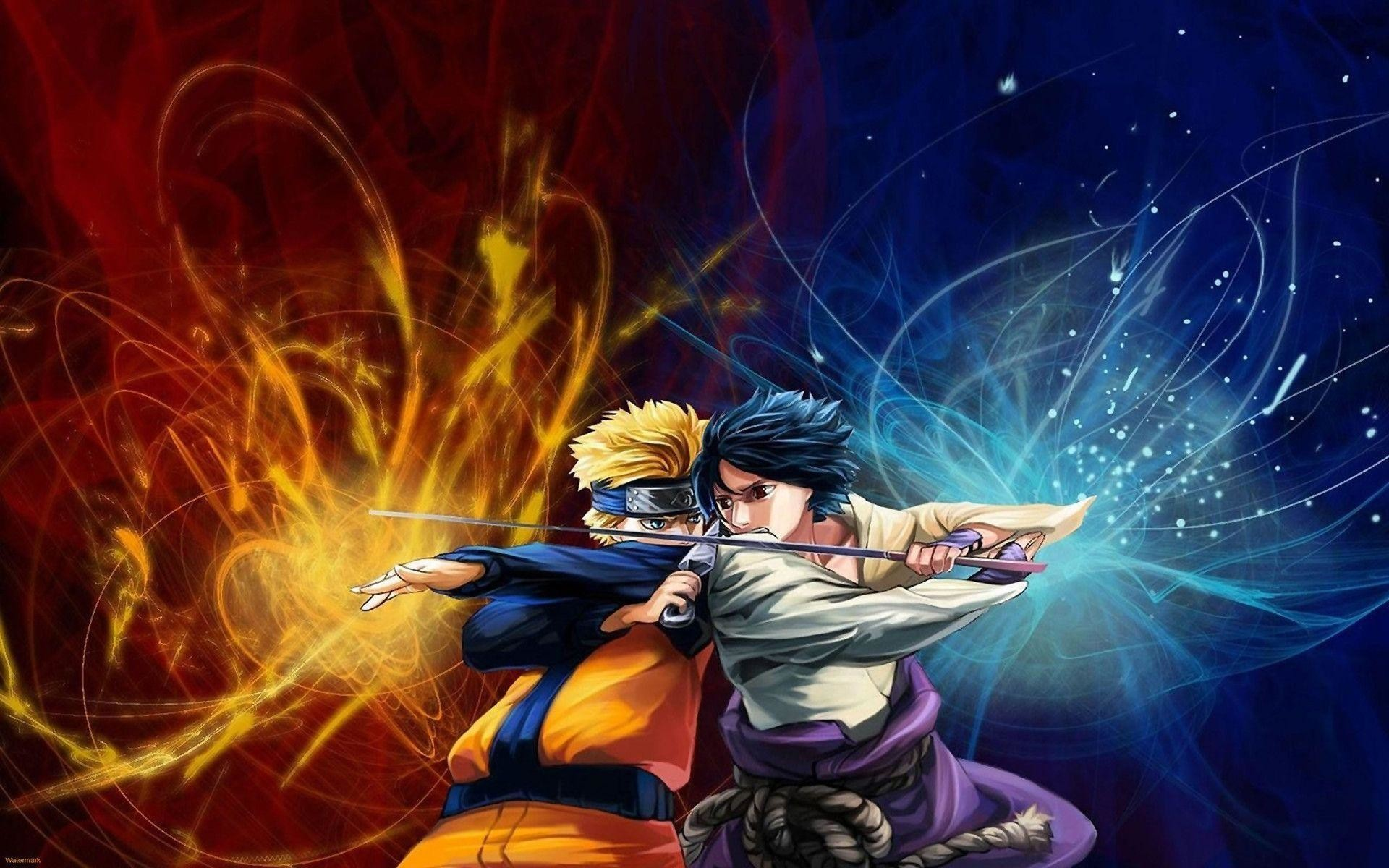 Naruto And Sasuke Wallpaper ①
