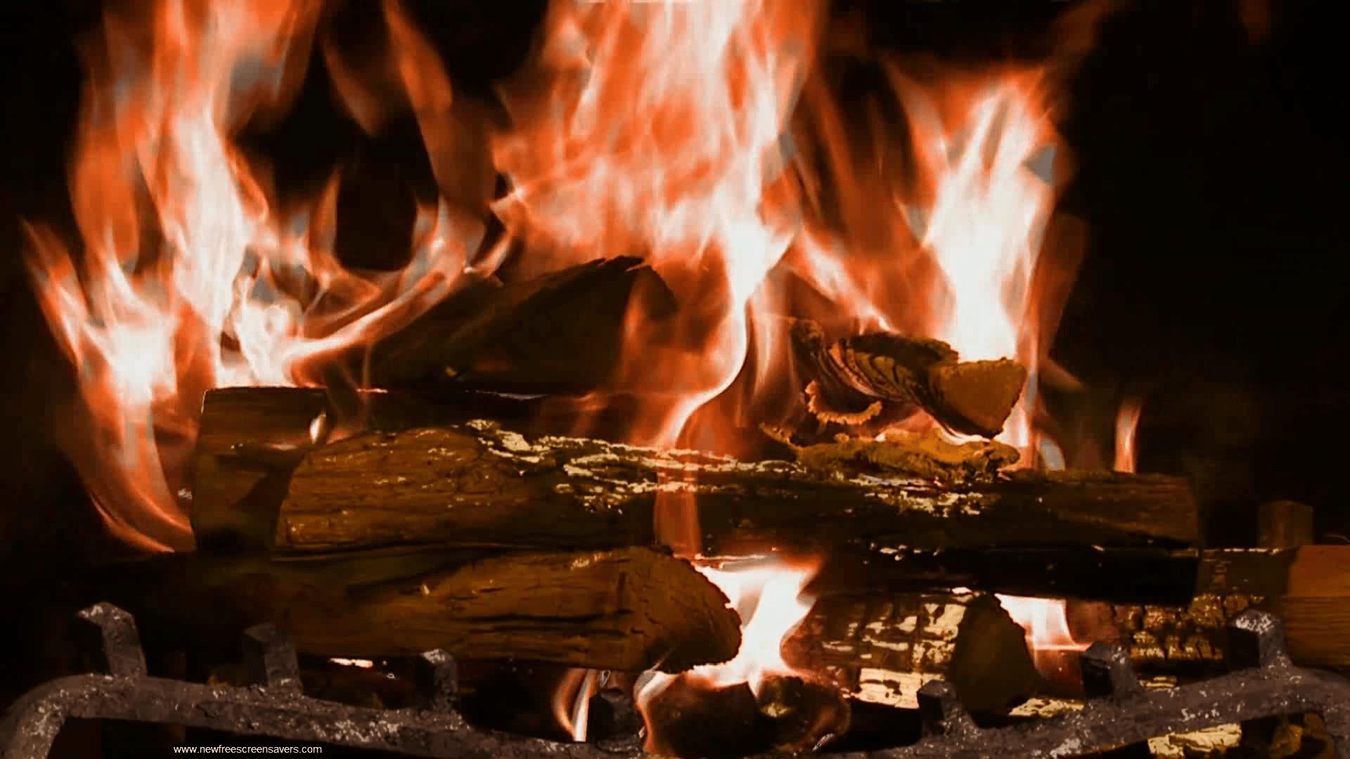 Fire Free Wallpaper Downloads: Fireplace Desktop Wallpaper ·①