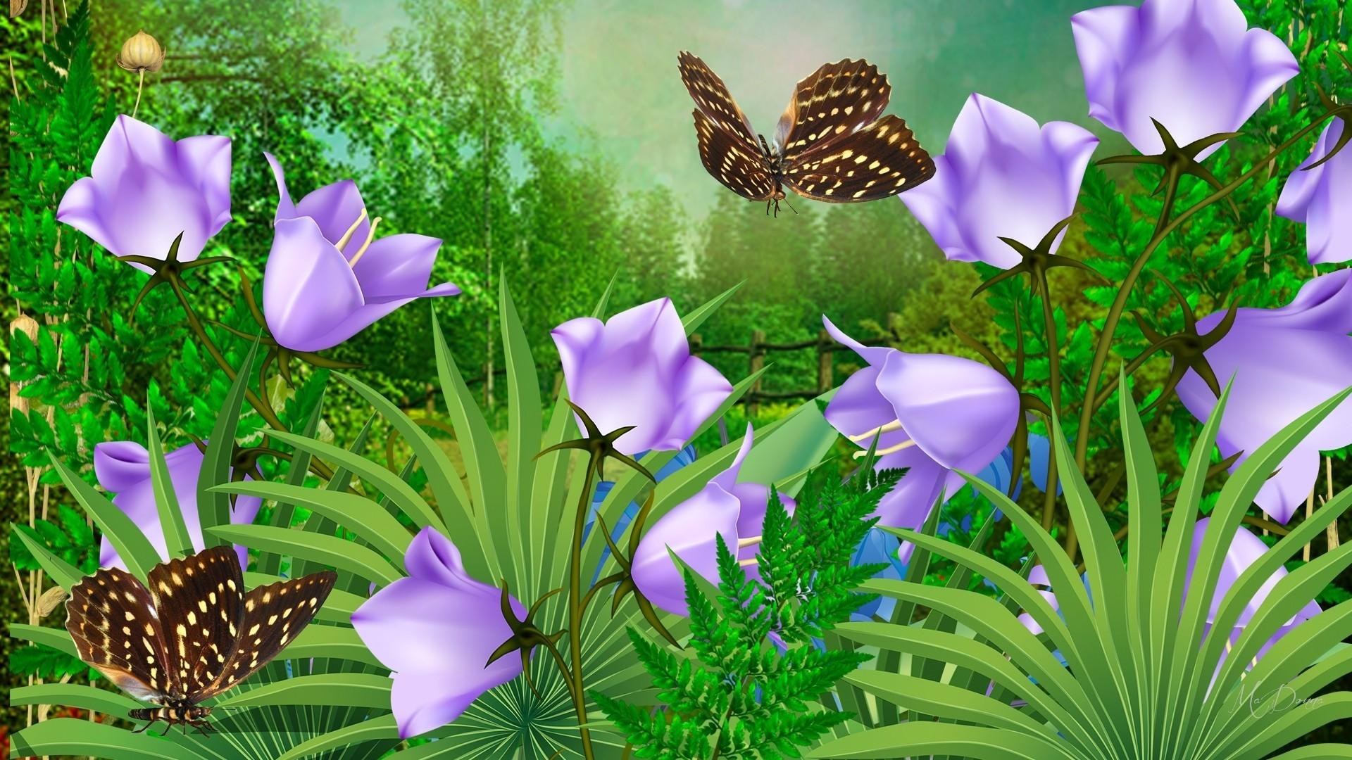 открытки с полянами с цветами блестящие мигающие школе