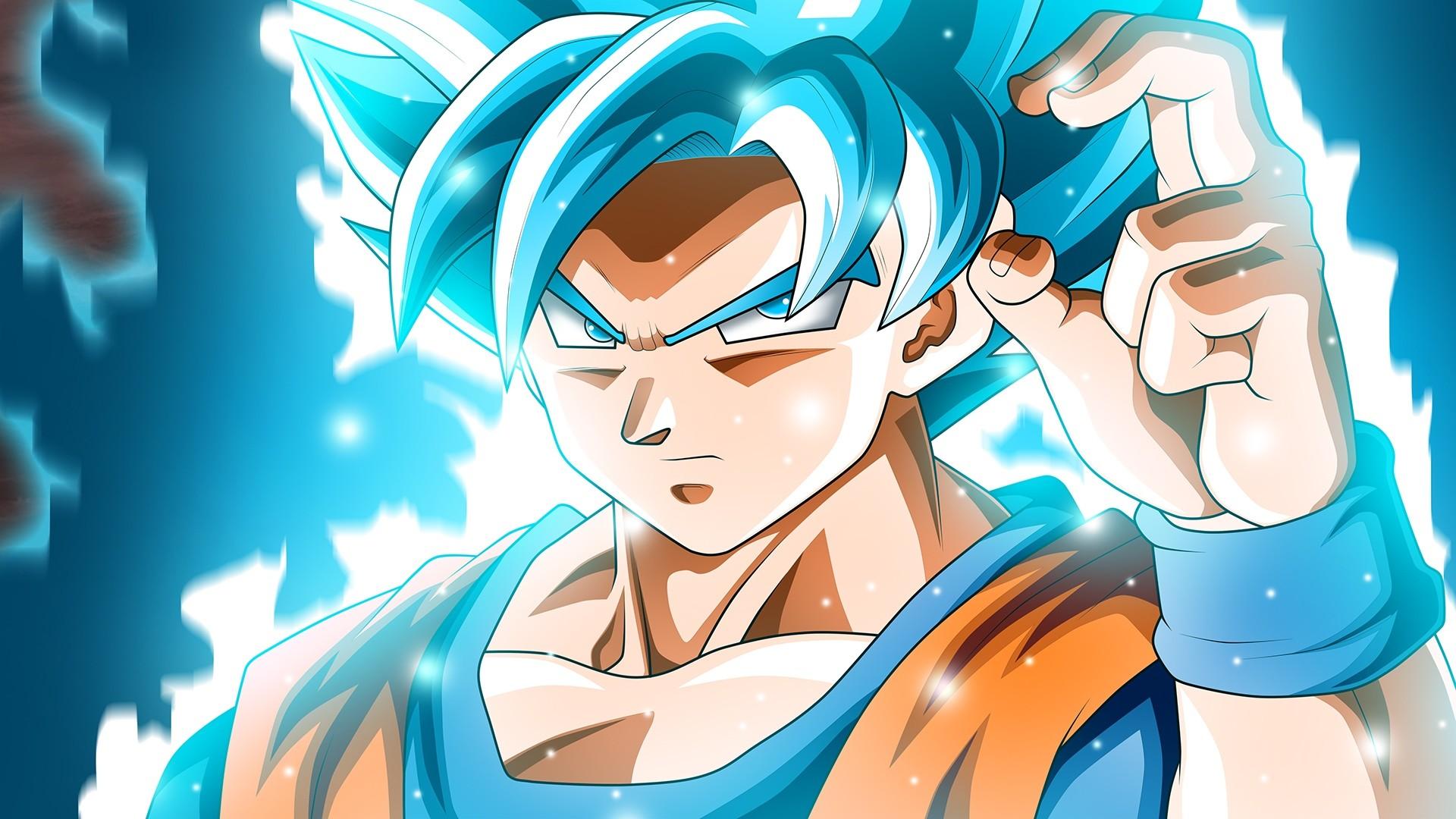 Goku Blue Wallpapers Wallpapertag