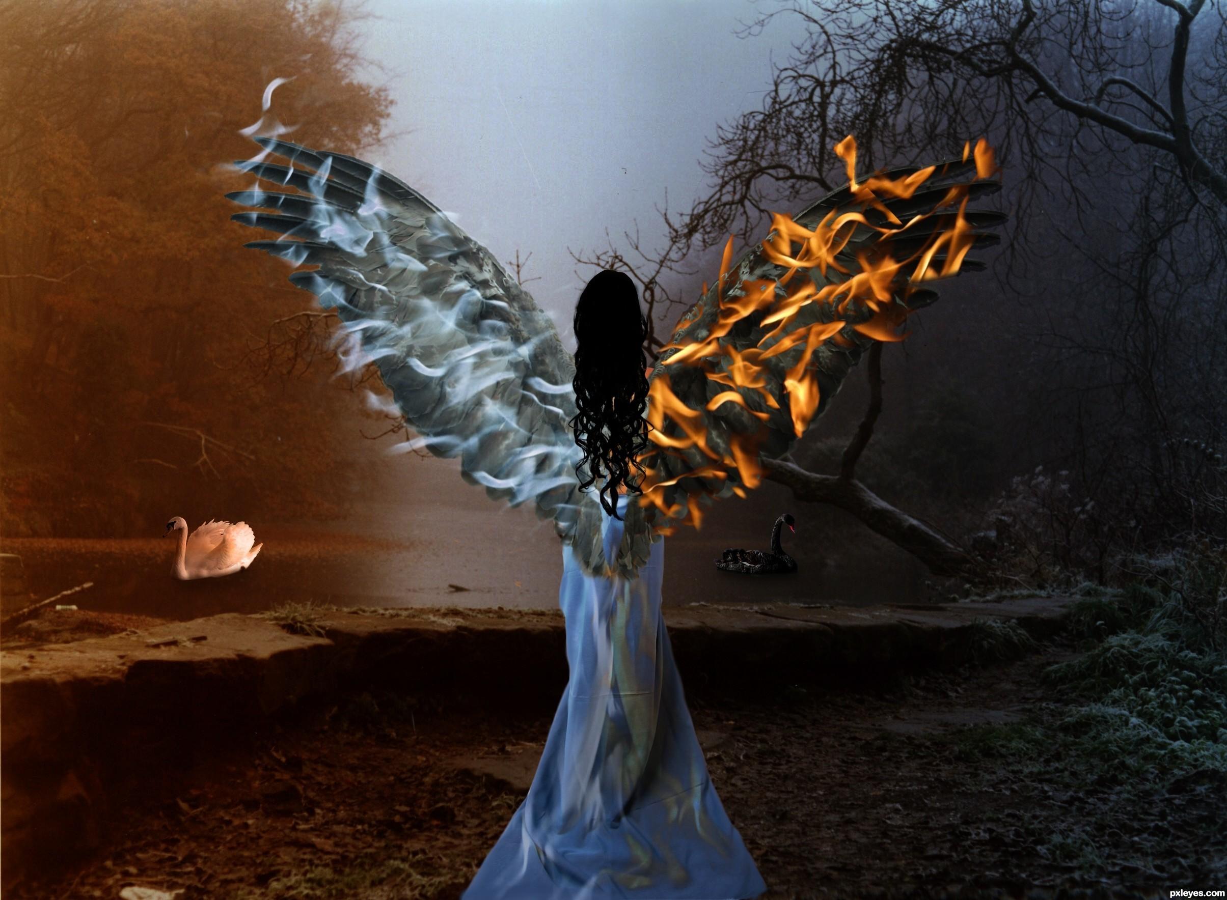 Good vs evil wallpaper wallpapertag - Free evil angel pictures ...