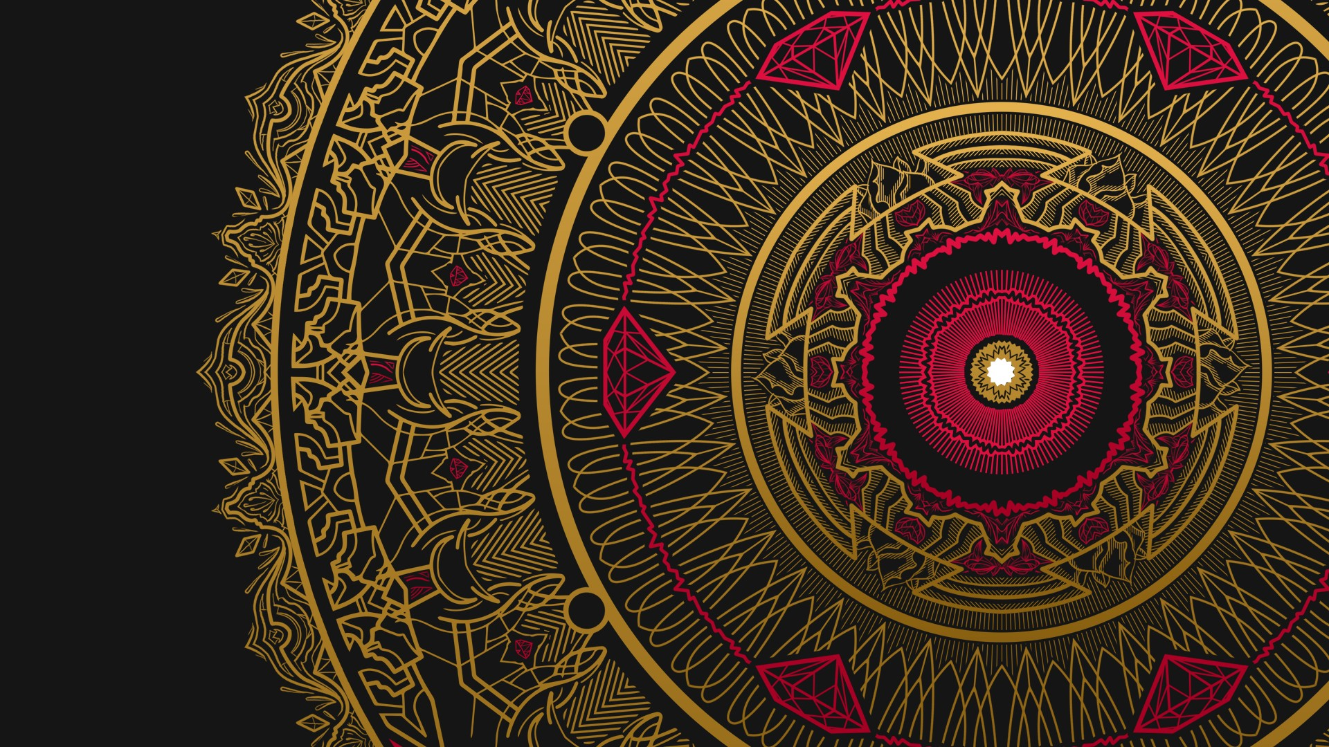 Wallpaper iphone mandala - 1920x1080