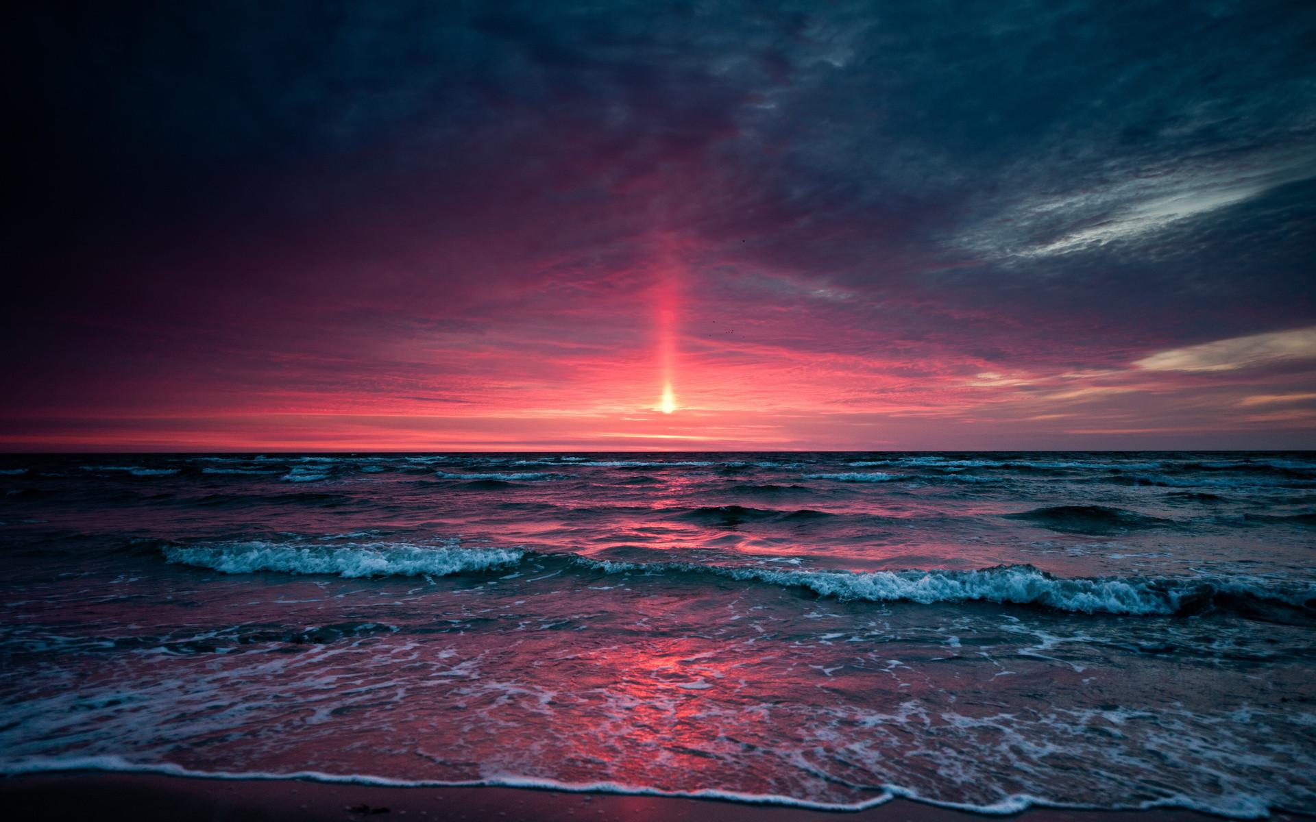 1920x1200 Sunset Beach Wallpaper Desktop Background