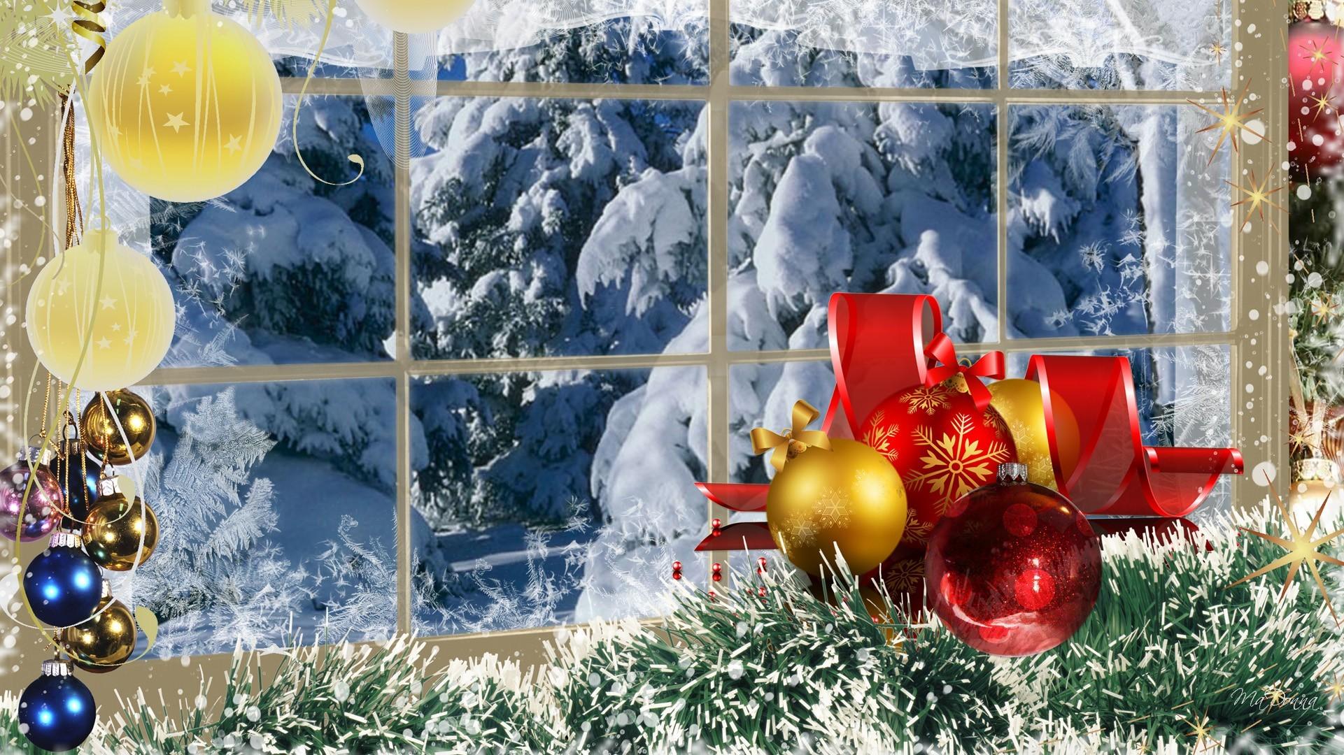 Christmas snow scene wallpaper wallpapertag - Christmas nature wallpaper ...