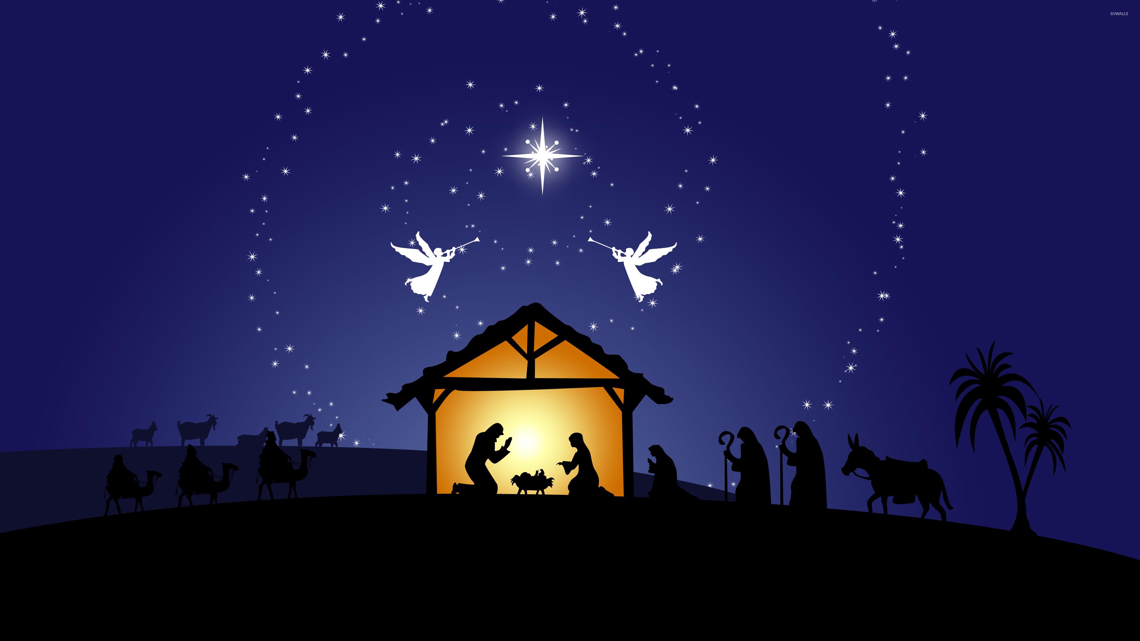 3840x2160 Nativity Scene Wallpaper Download