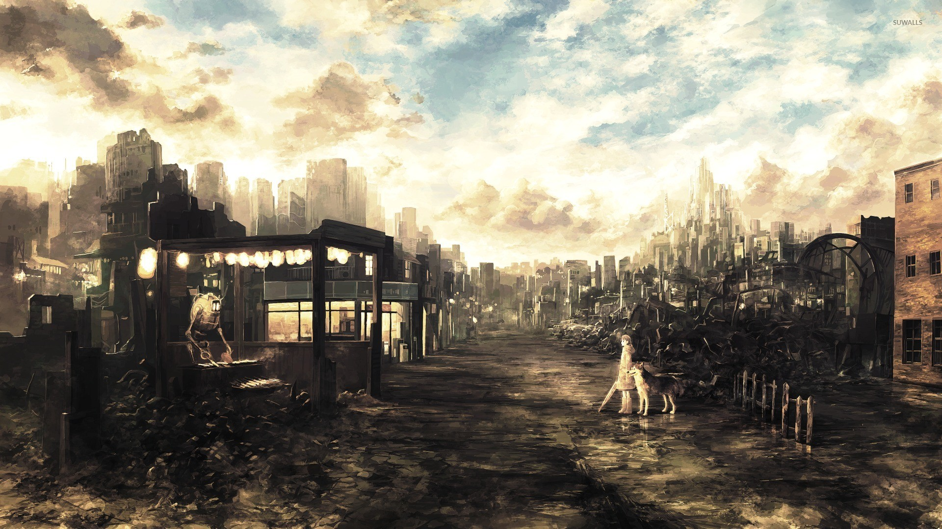 Anime City wallpaper ·① Download free beautiful wallpapers ...
