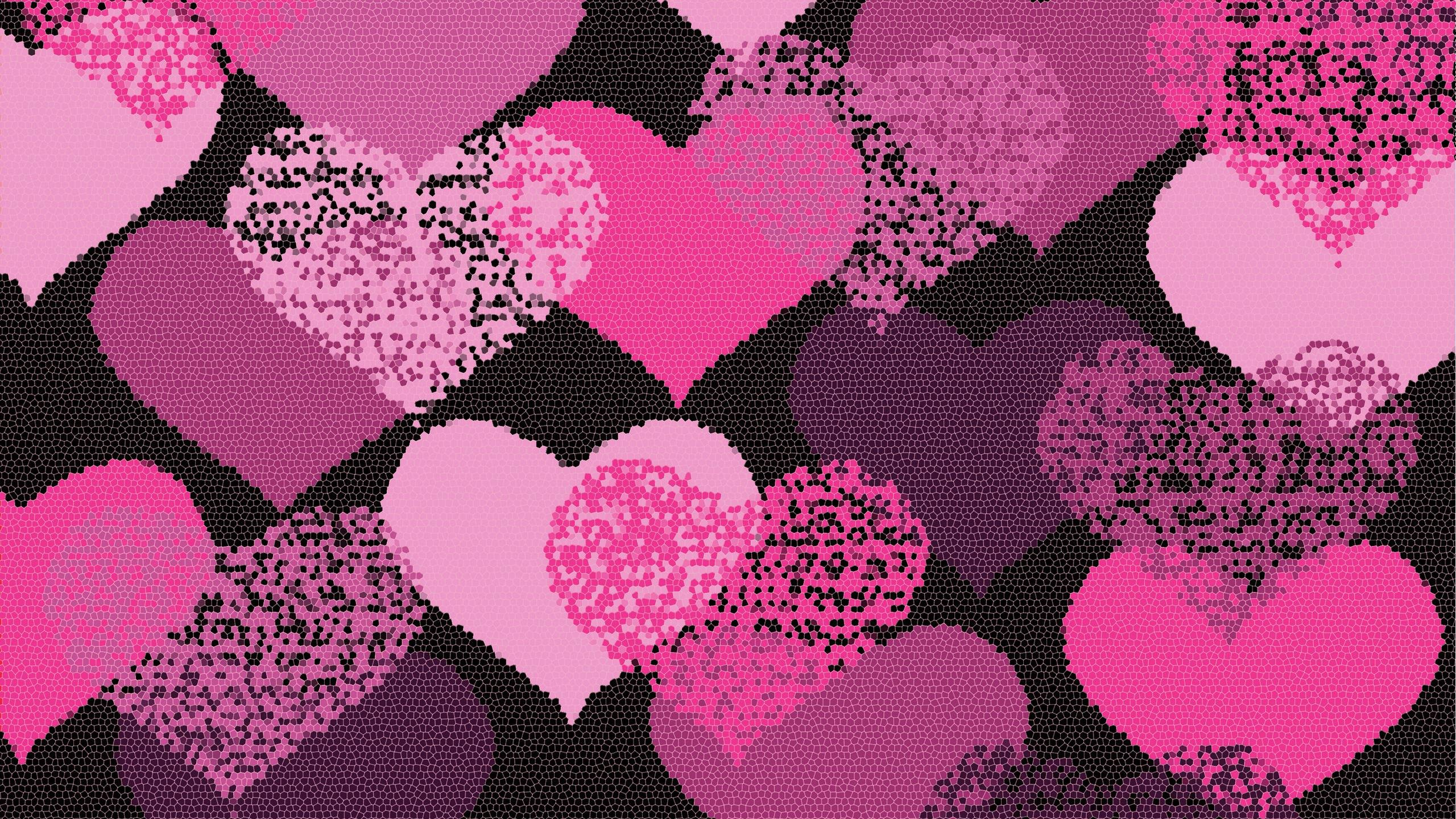 Pink Love Heart Backgrounds Wallpapertag