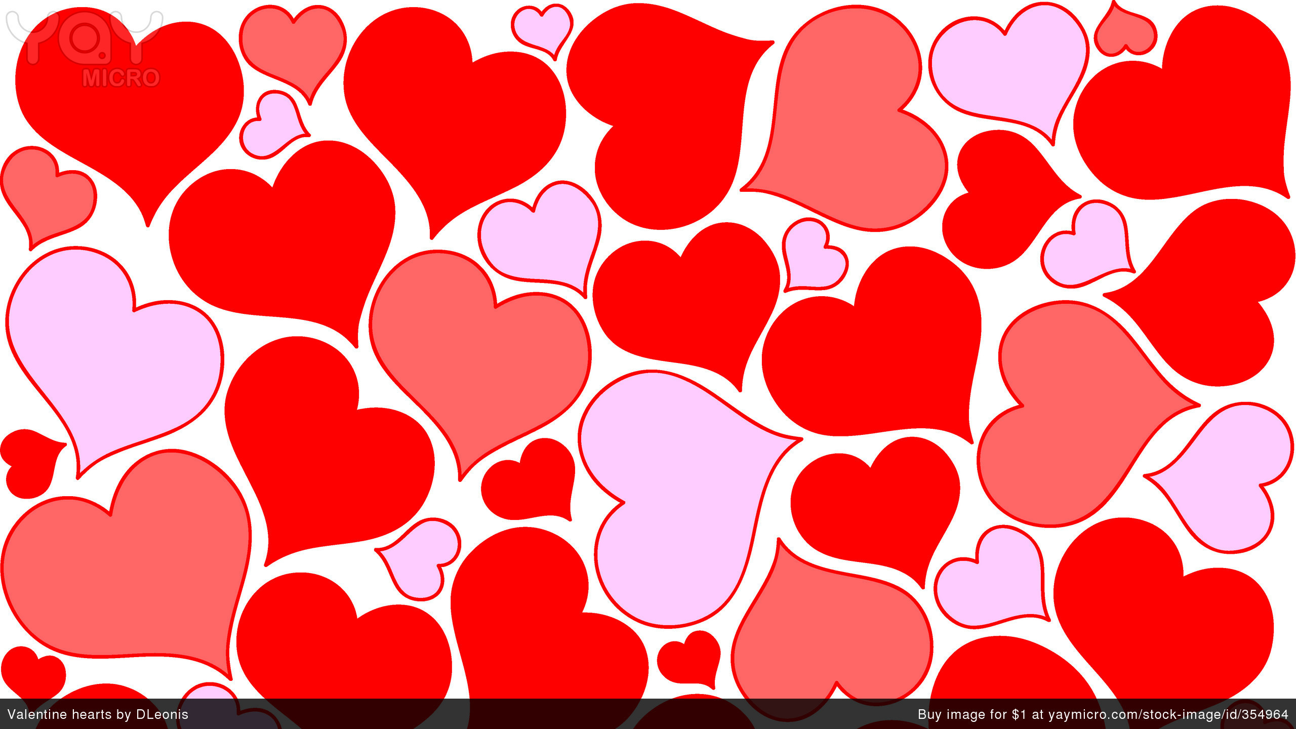 2560x1440 Heart Pattern Wallpaper #9179 .