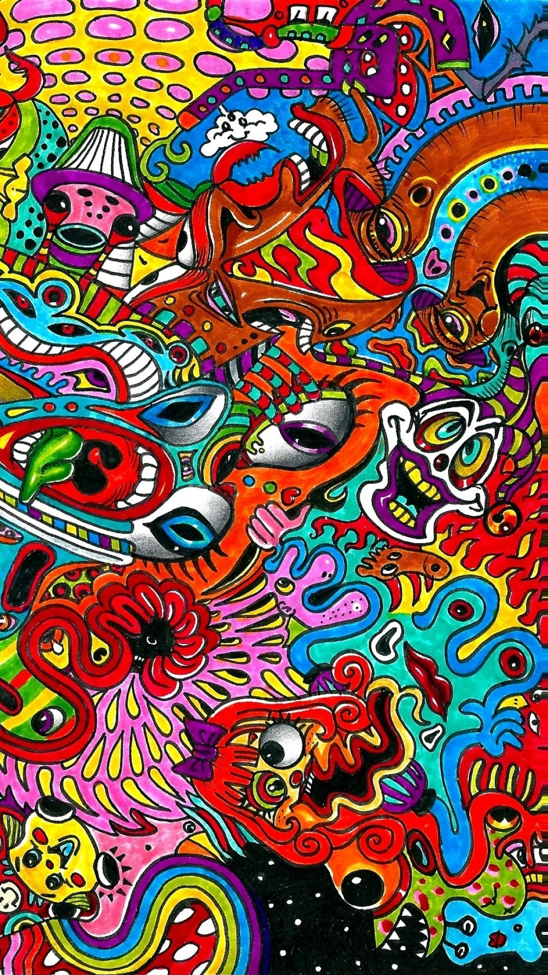Sam Bernal's 'Trippy Art for the Crazy Heart' | Marisol D ... |Crazy Trippy Drawings
