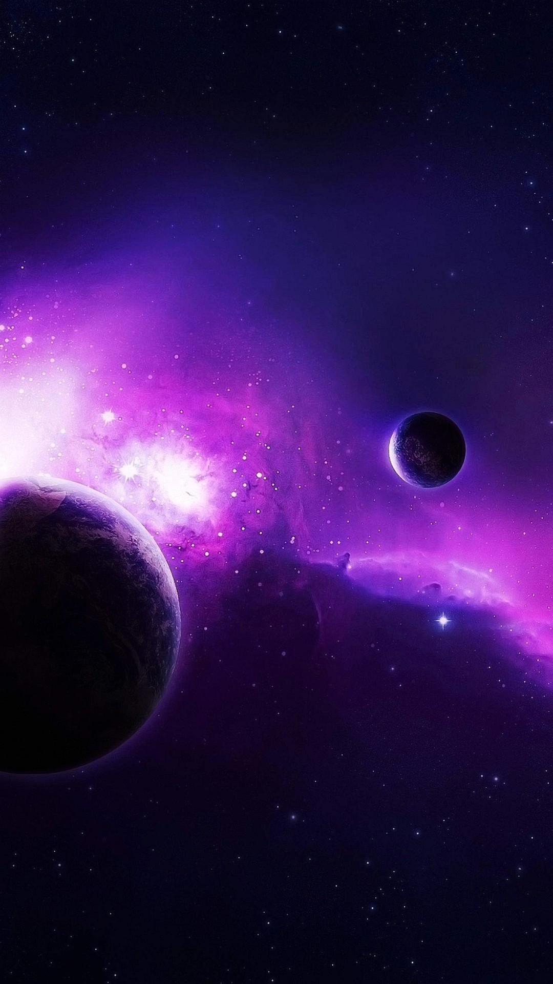 1080x1920 Wallpaper Iphone 6 Plus Violet Space 5 Inches