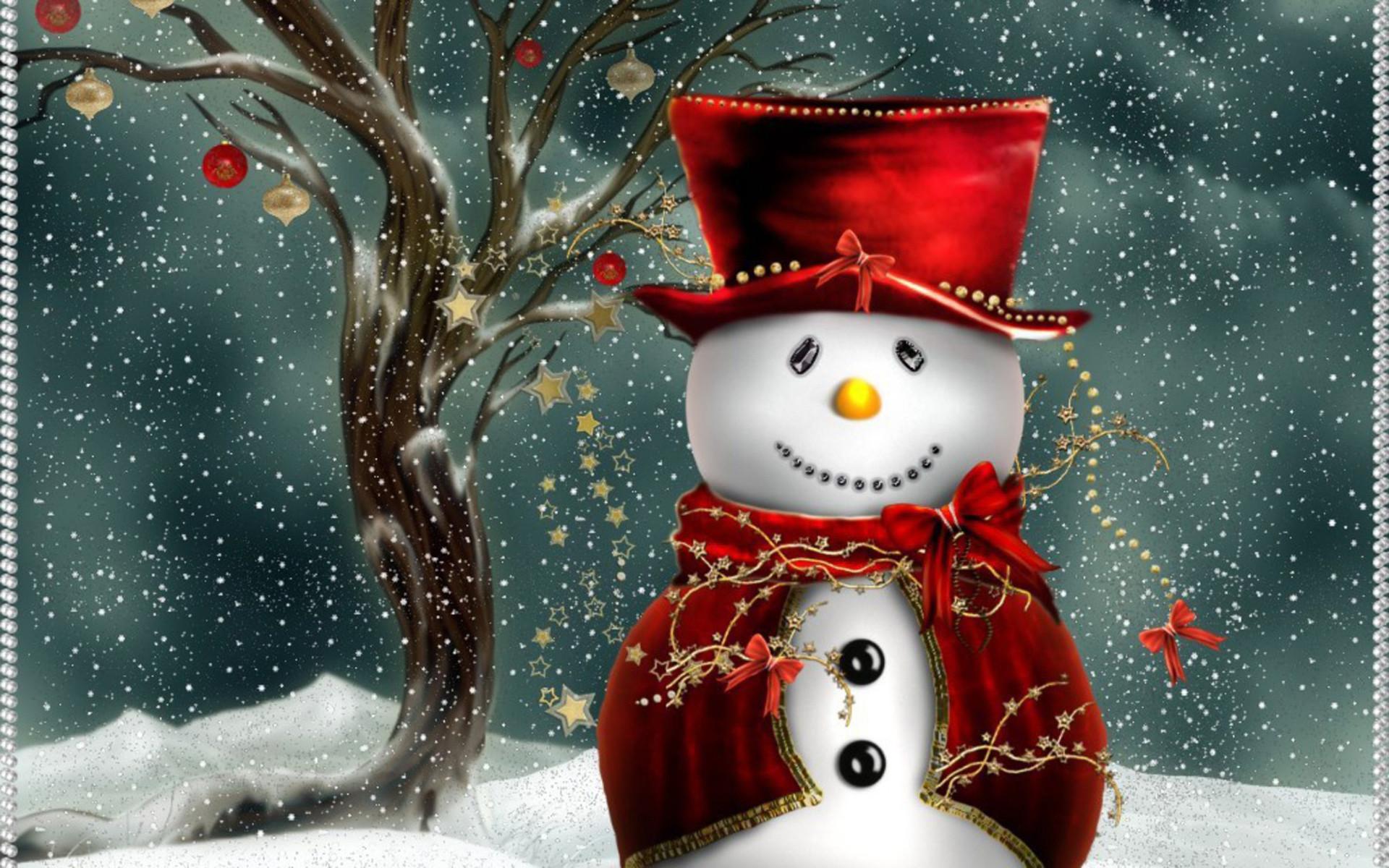Cute Snowman Wallpaper