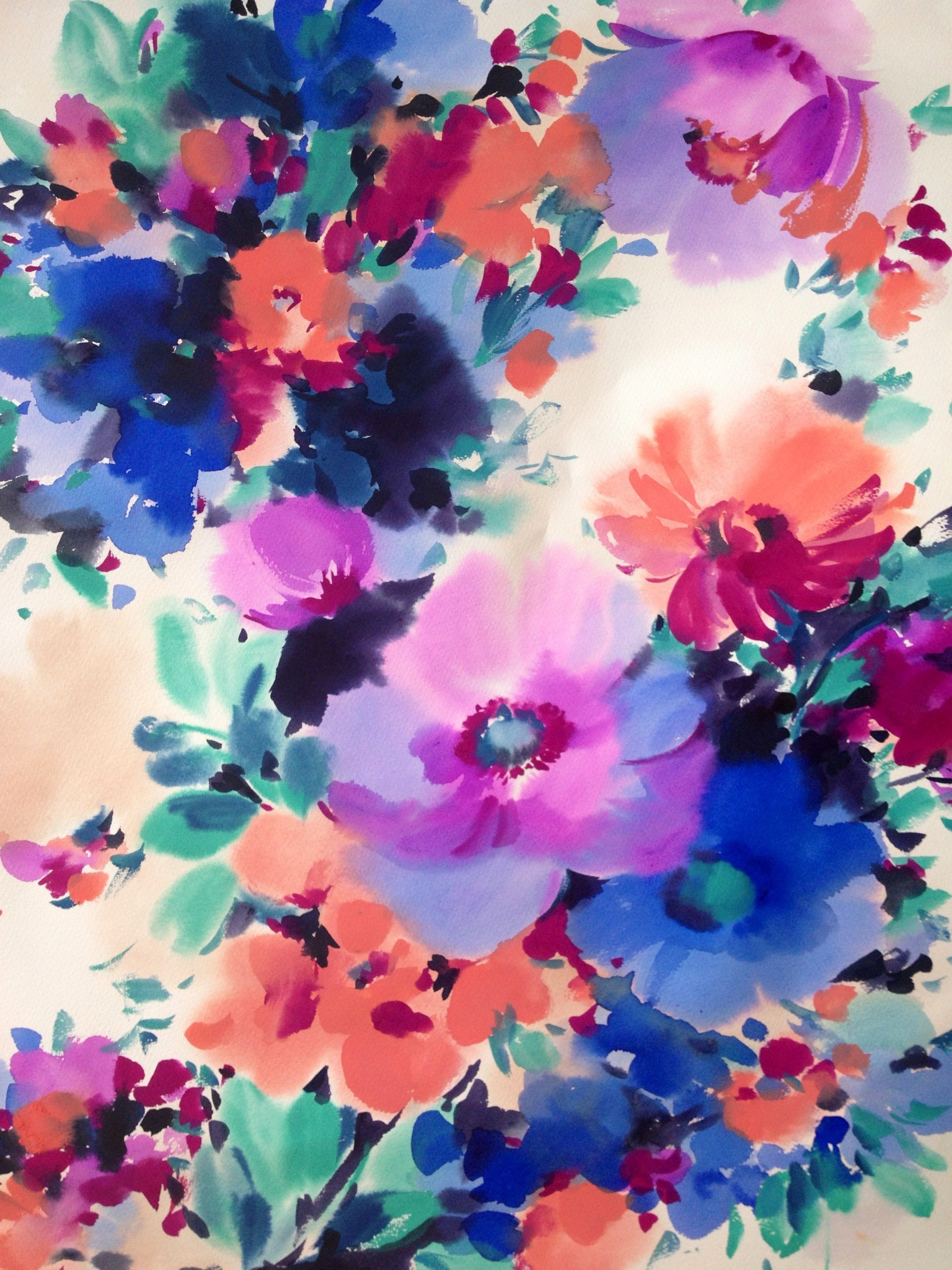 Watercolor background tumblr download free beautiful - High resolution watercolor flowers ...