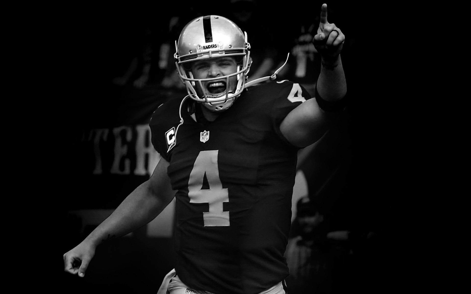 1920x1200 Oakland Raiders 50th anniversary in the year 2009.