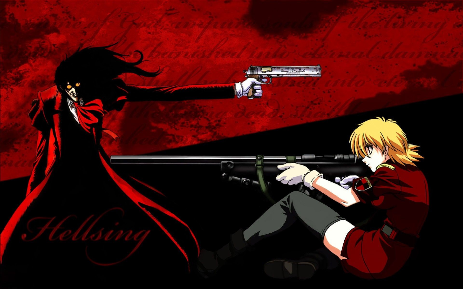 Alucard Vampires Dracula Hellsing Ultimate Integra Fairbrook Wingate 1920x1080 Wallpaper Art HD 2560x1440