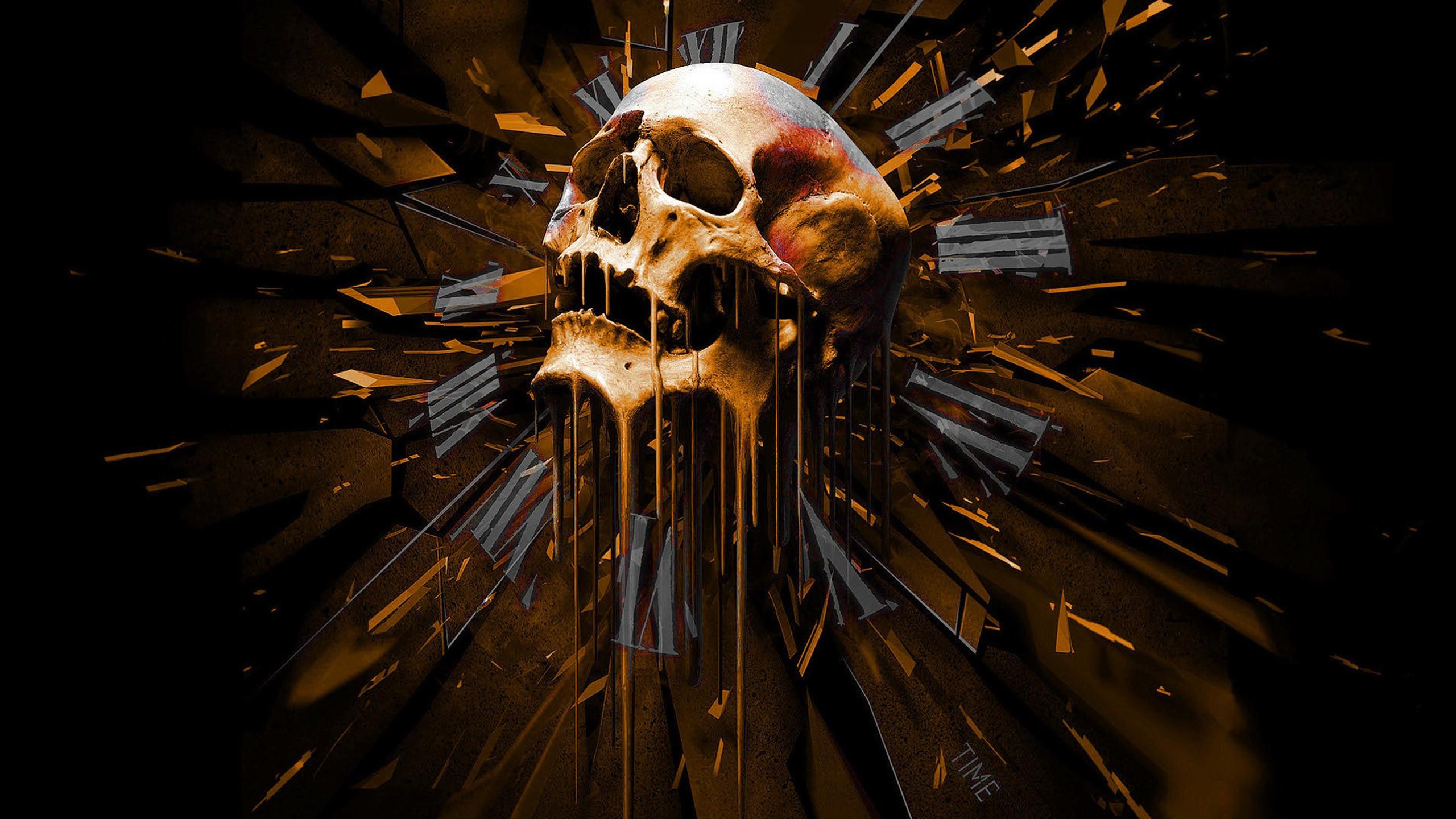 Evil skull wallpaper wallpapertag - Scary skull backgrounds ...