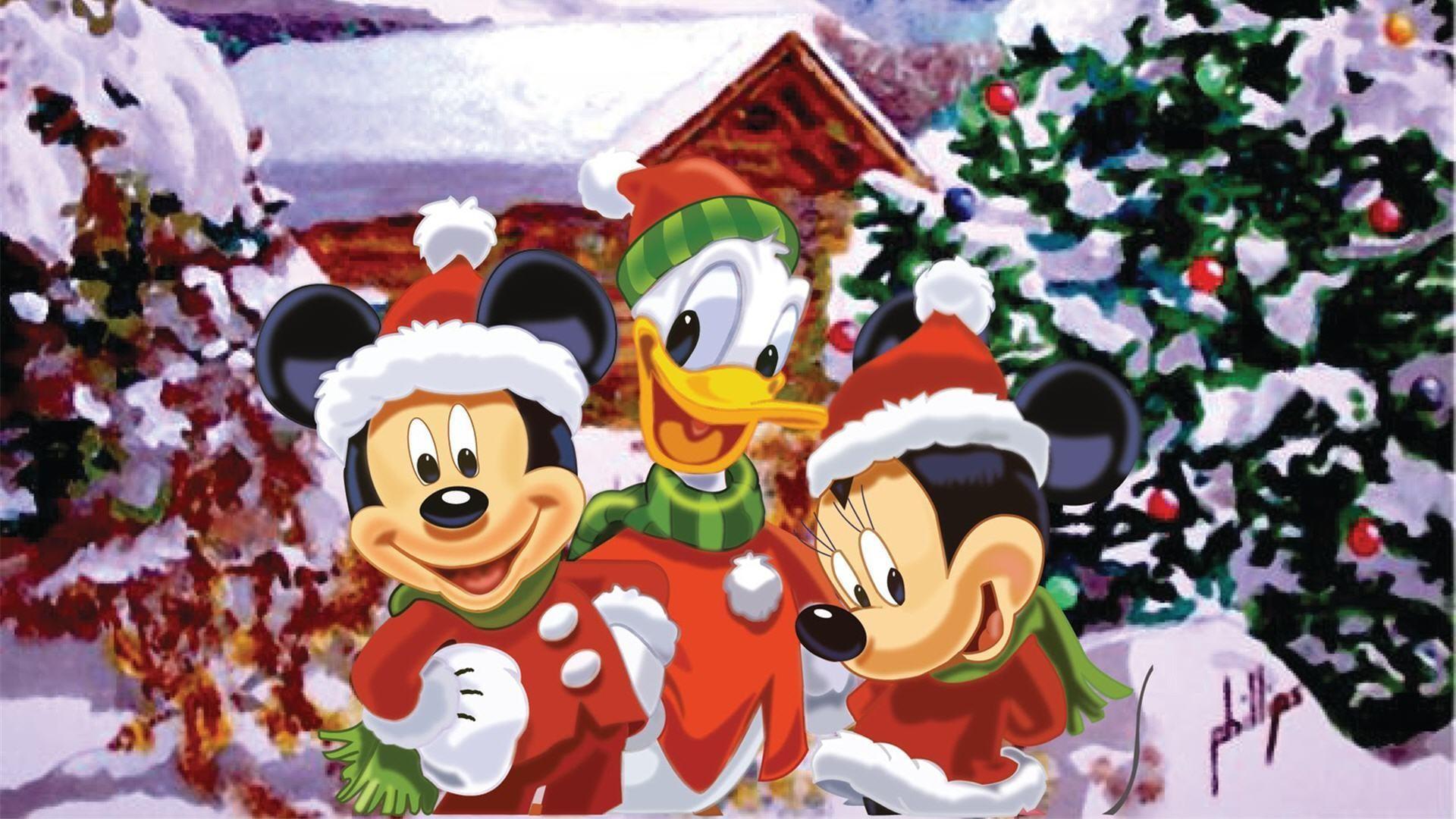 Mickey Mouse Christmas Wallpaper ·①