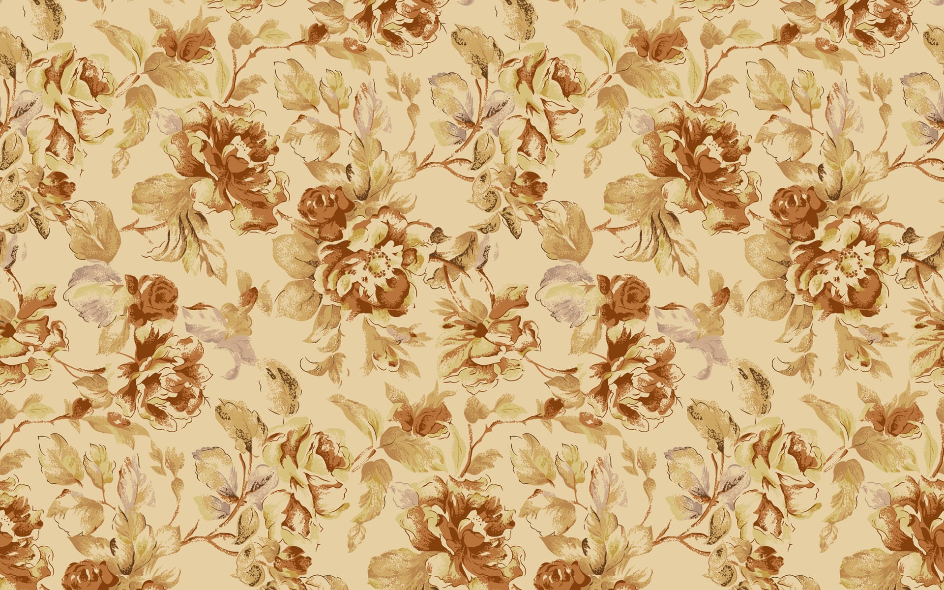 1920x1200 Vintage Flower Wallpaper Mobile