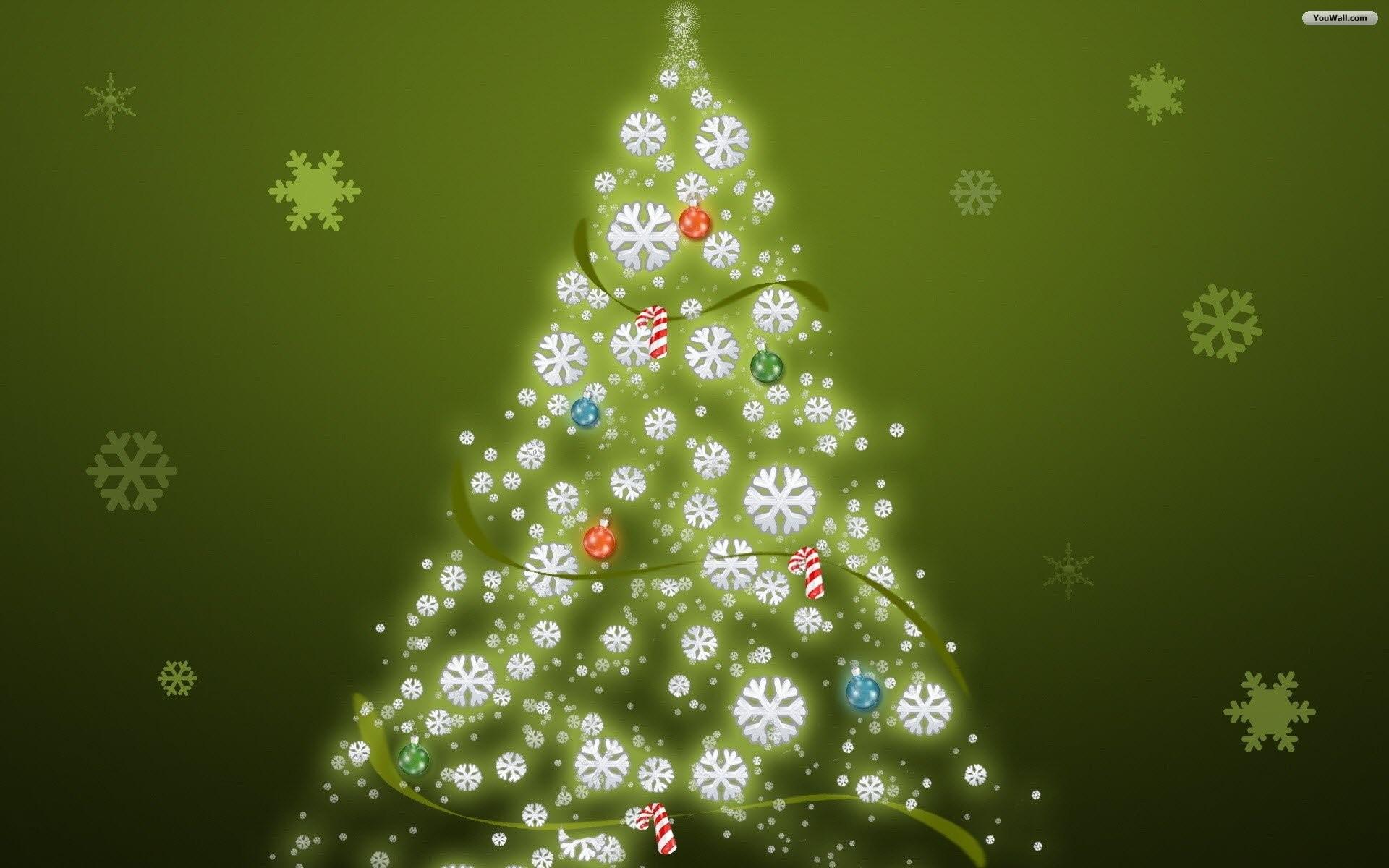 christmas trees wallpaper ·①