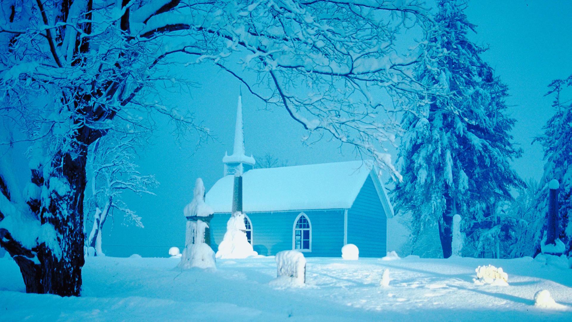 Christmas Winter Scenes Wallpaper 1