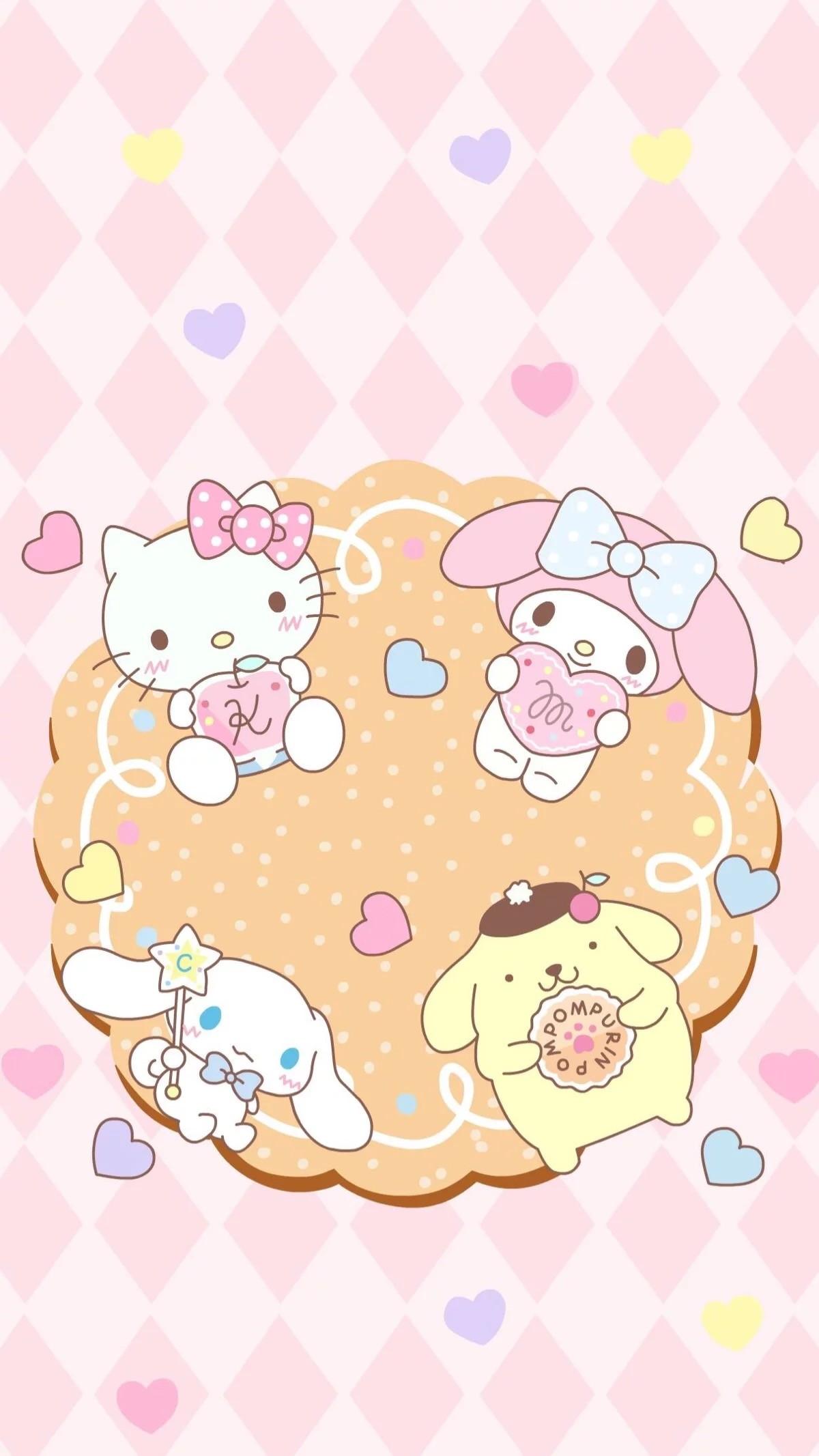 1200x2133 Hello Kitty My Melody Cinnamonroll Pompompurin