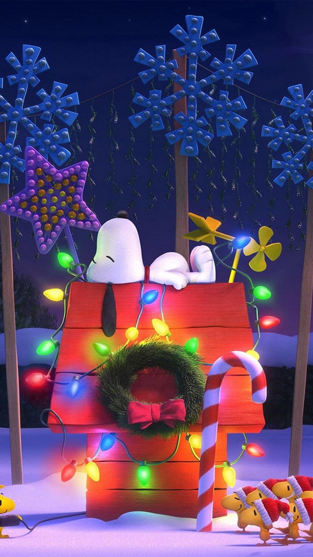 Peanuts Christmas Wallpaper ·①