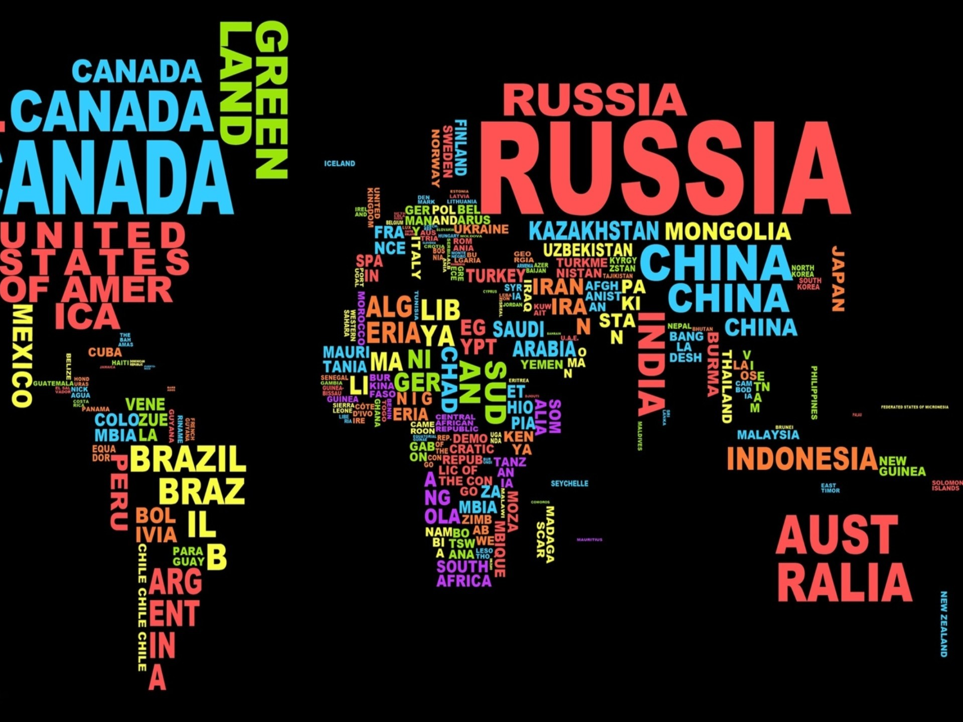 World Map Desktop Wallpaper 1