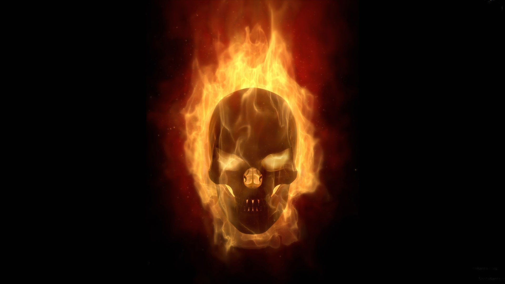 The Punisher Skull On Fire
