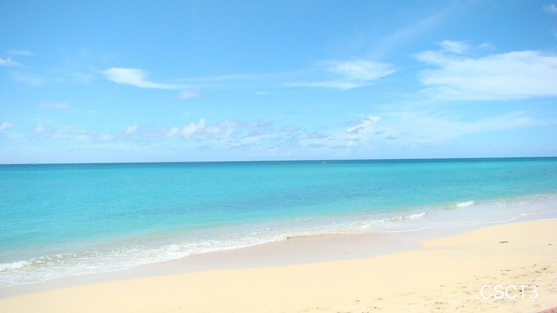 caribbean sand beach wallpaper