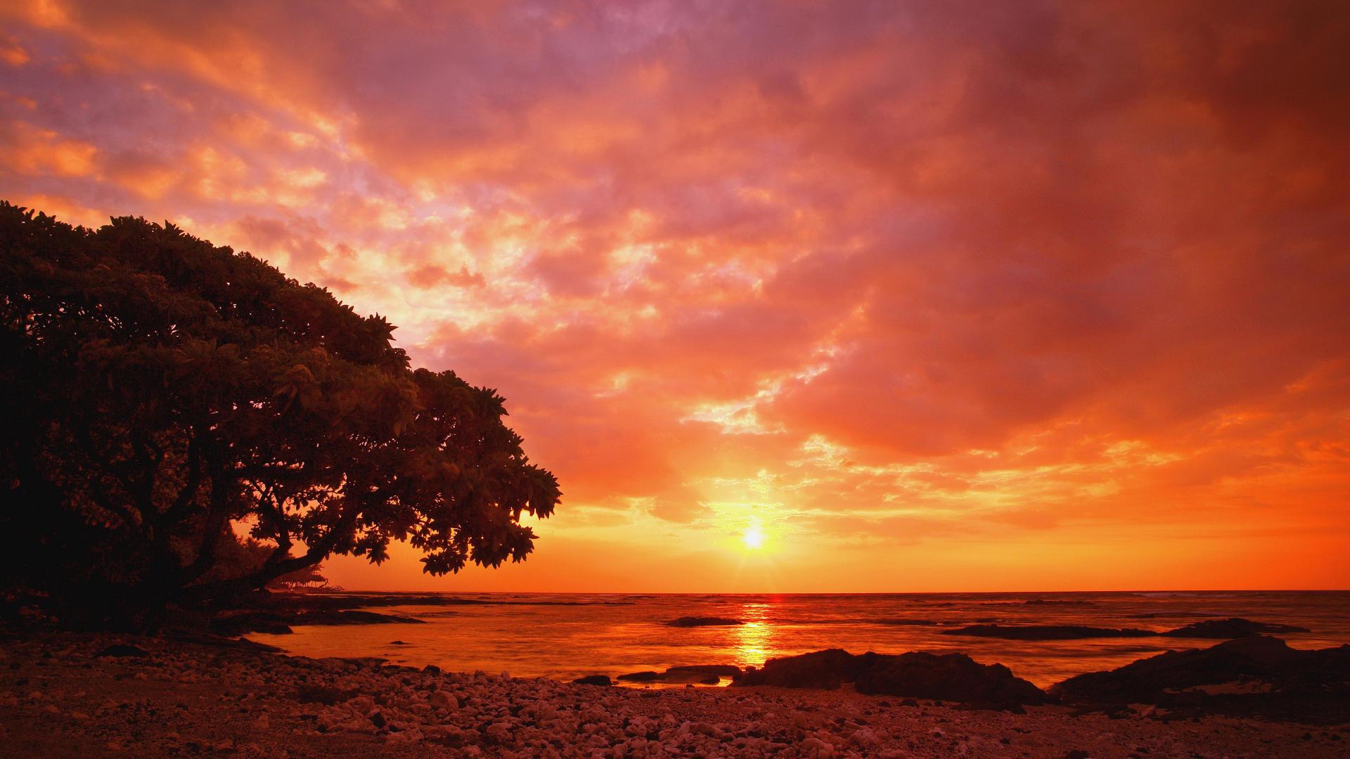 sunset wallpaper hd ·①