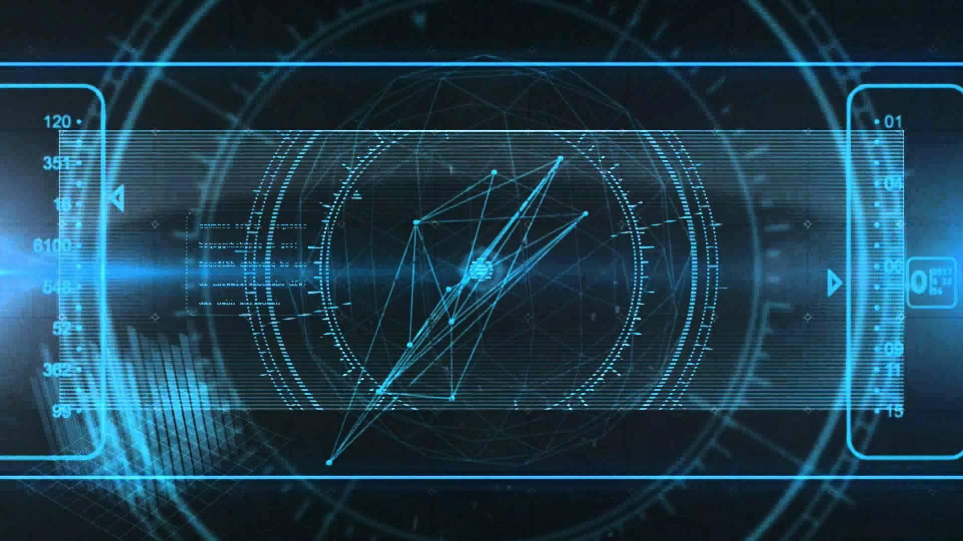 holographic will template - future technology wallpaper