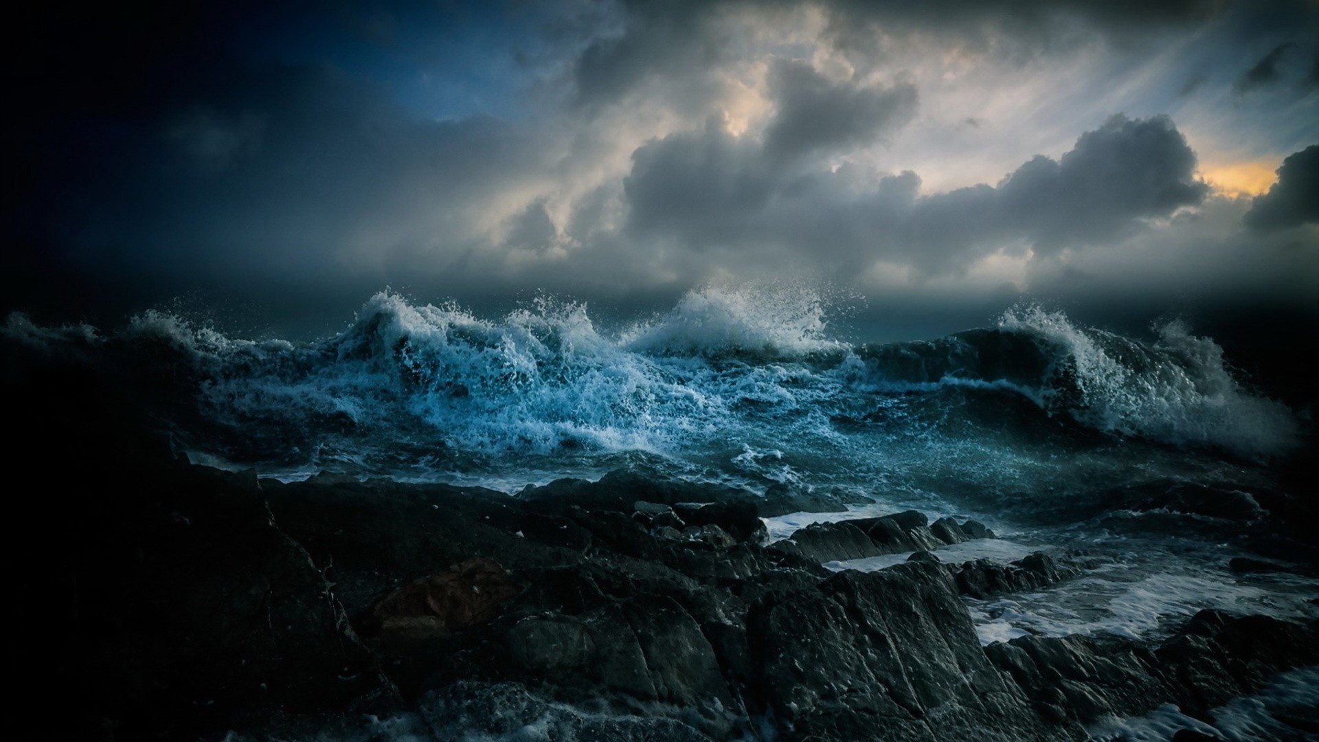 stormy ocean wallpaper 183��