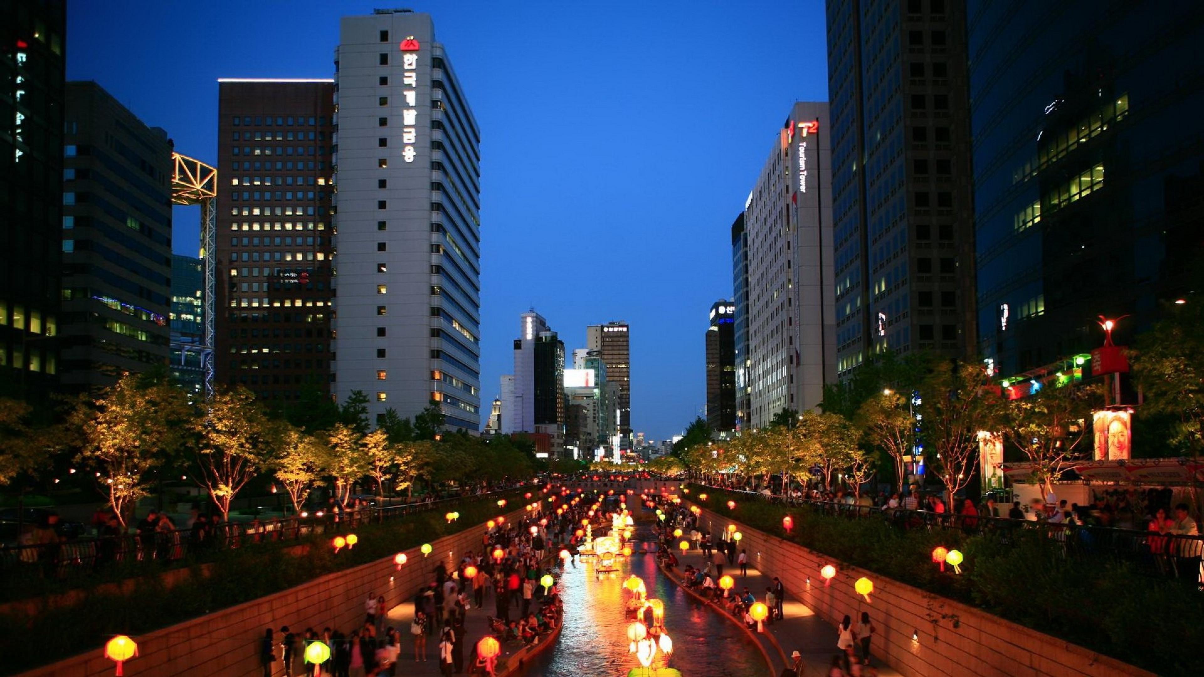 south koreas hi tech city - HD3840×2160