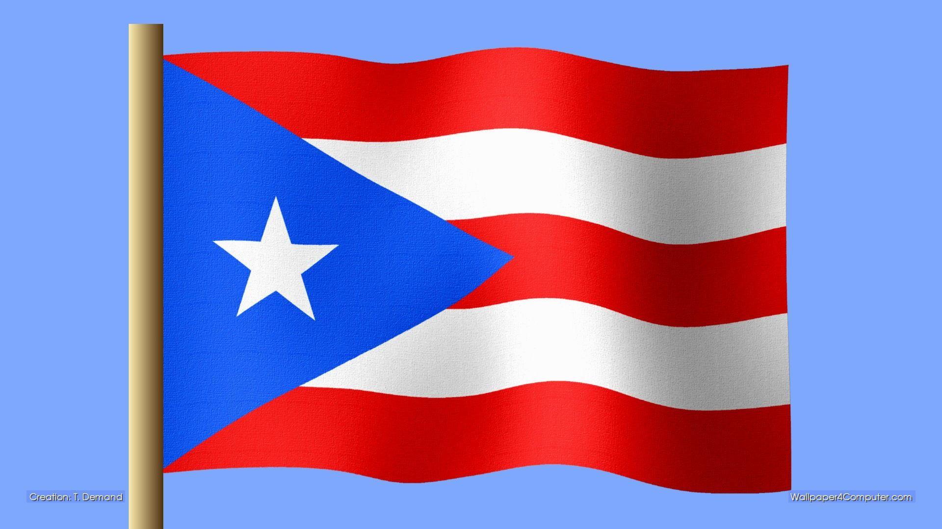 Puerto rico flag wallpaper desktop