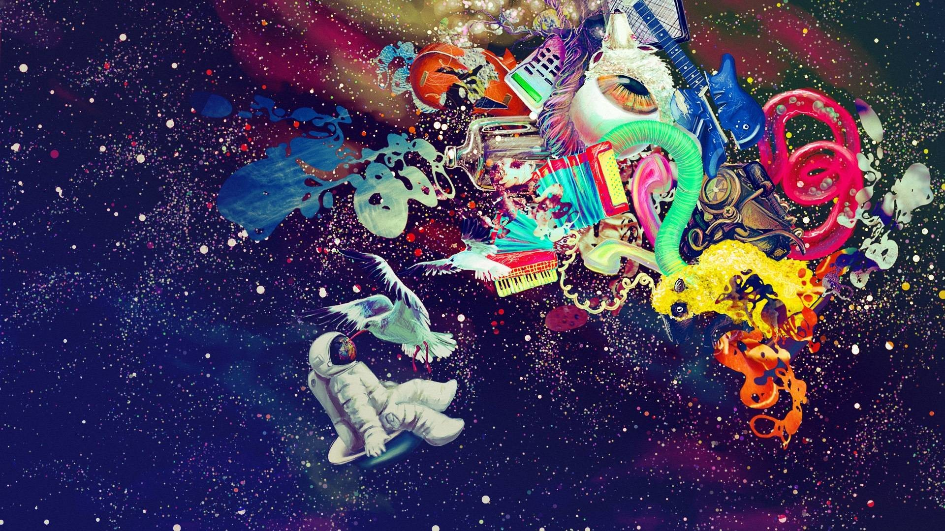 trippy abstract wallpaper ·①