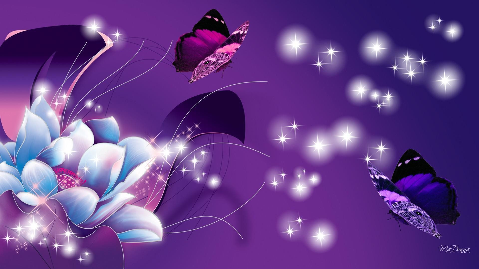 Purple Butterfly Background ·① WallpaperTag