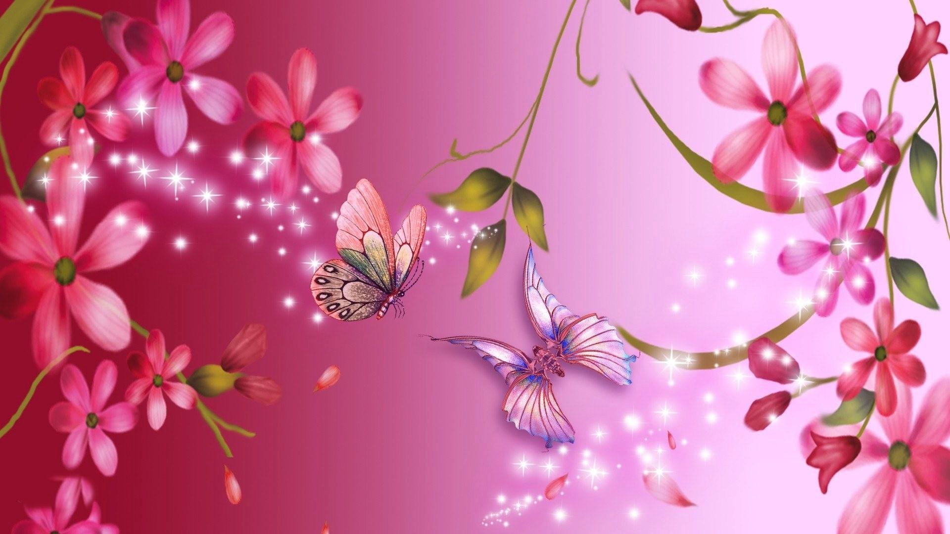 Pink Flower Backgrounds ·① WallpaperTag