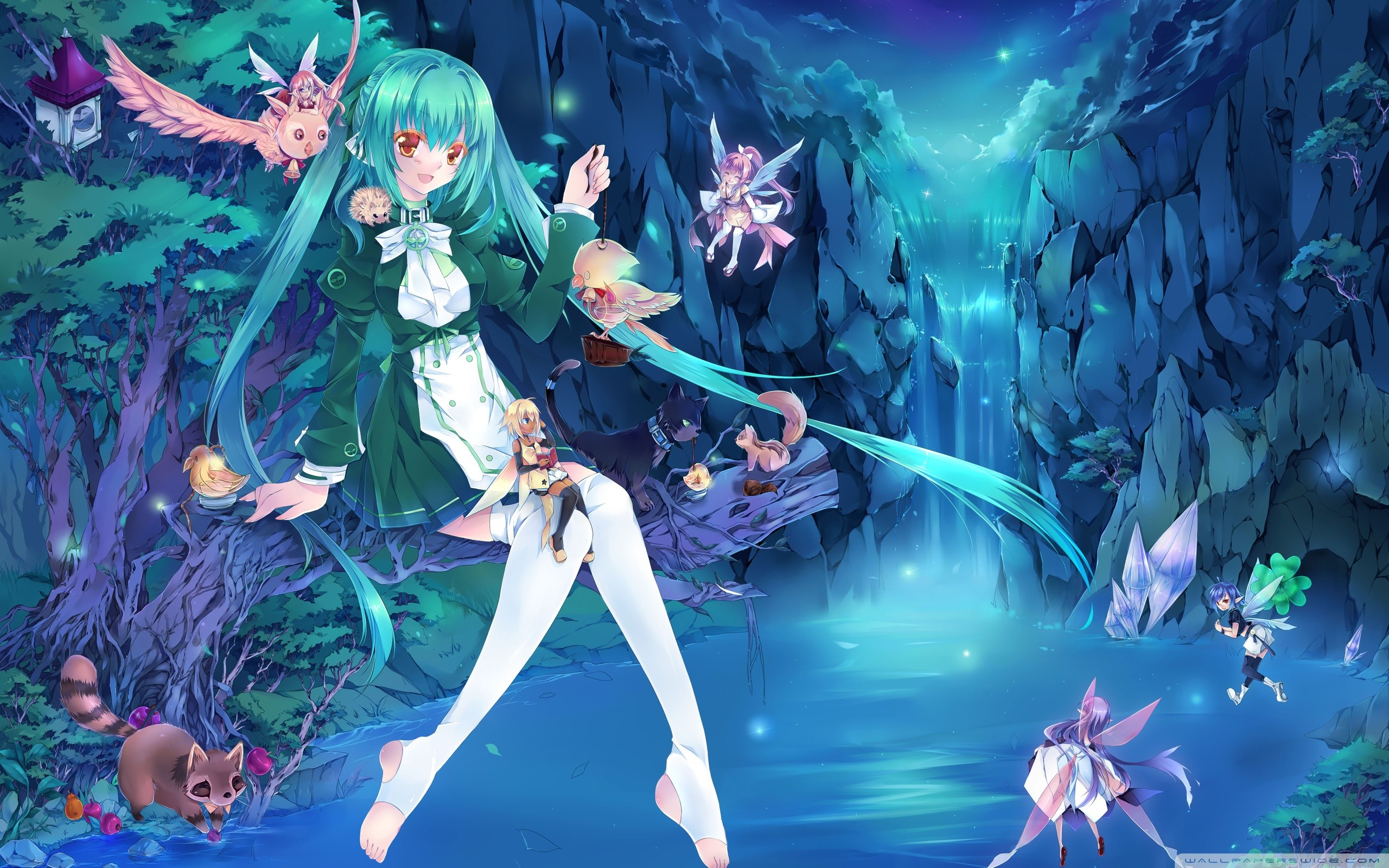 Fairy wallpapers 2560x1600 fighting fairies wallpaper background 27986 thecheapjerseys Images