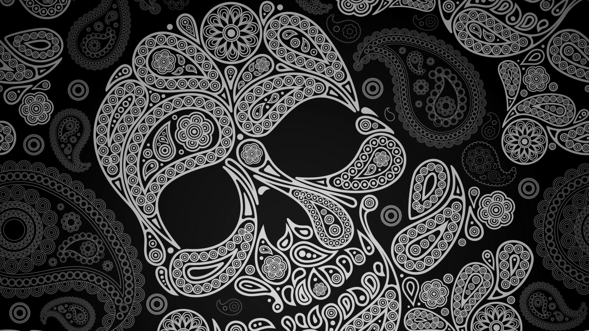free girly skull wallpaper