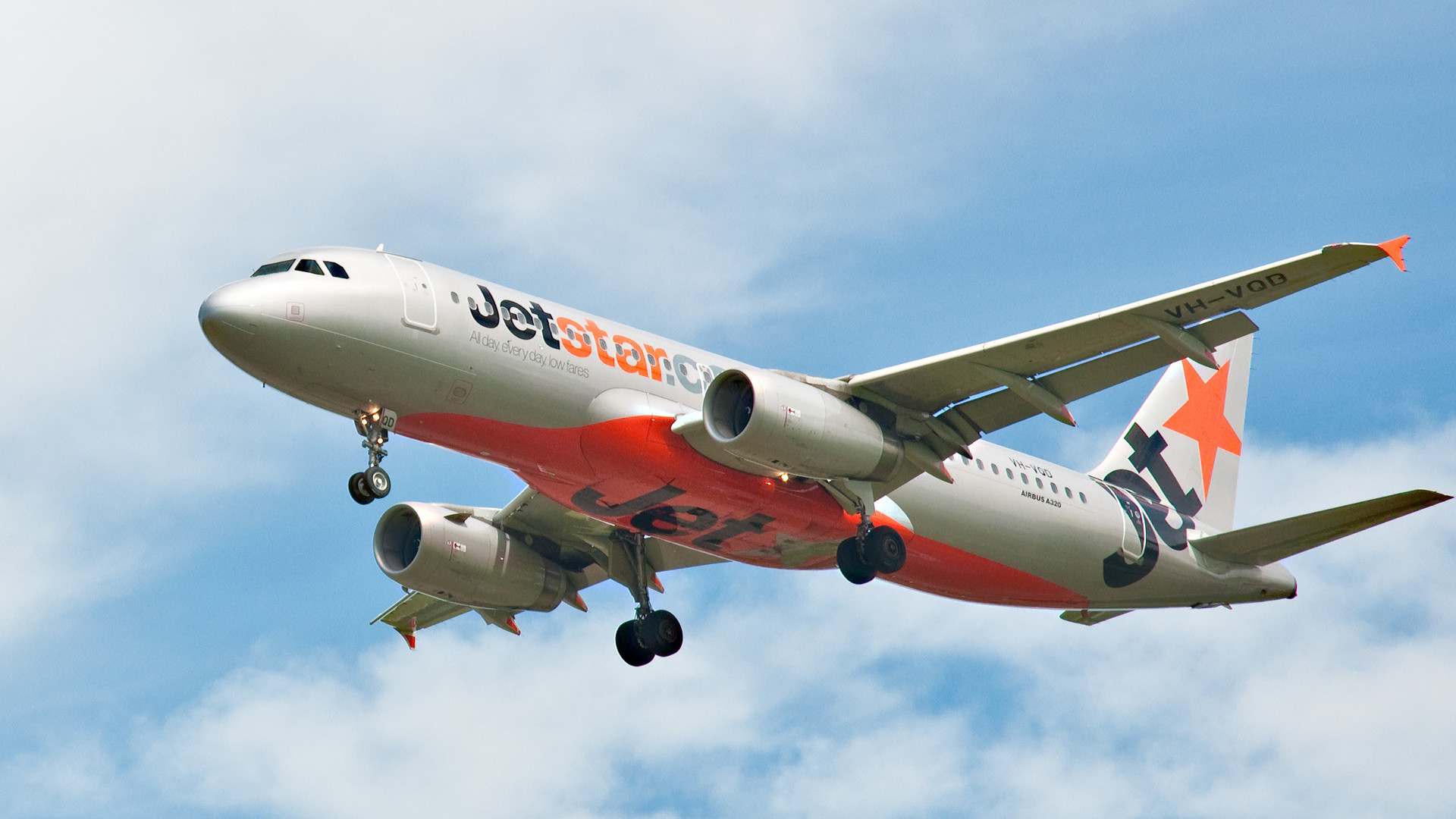 Airbus A320 Aircrafts Jetstar Sydney Airport Aircraft Airplane Full HD Impressive Wallpaper