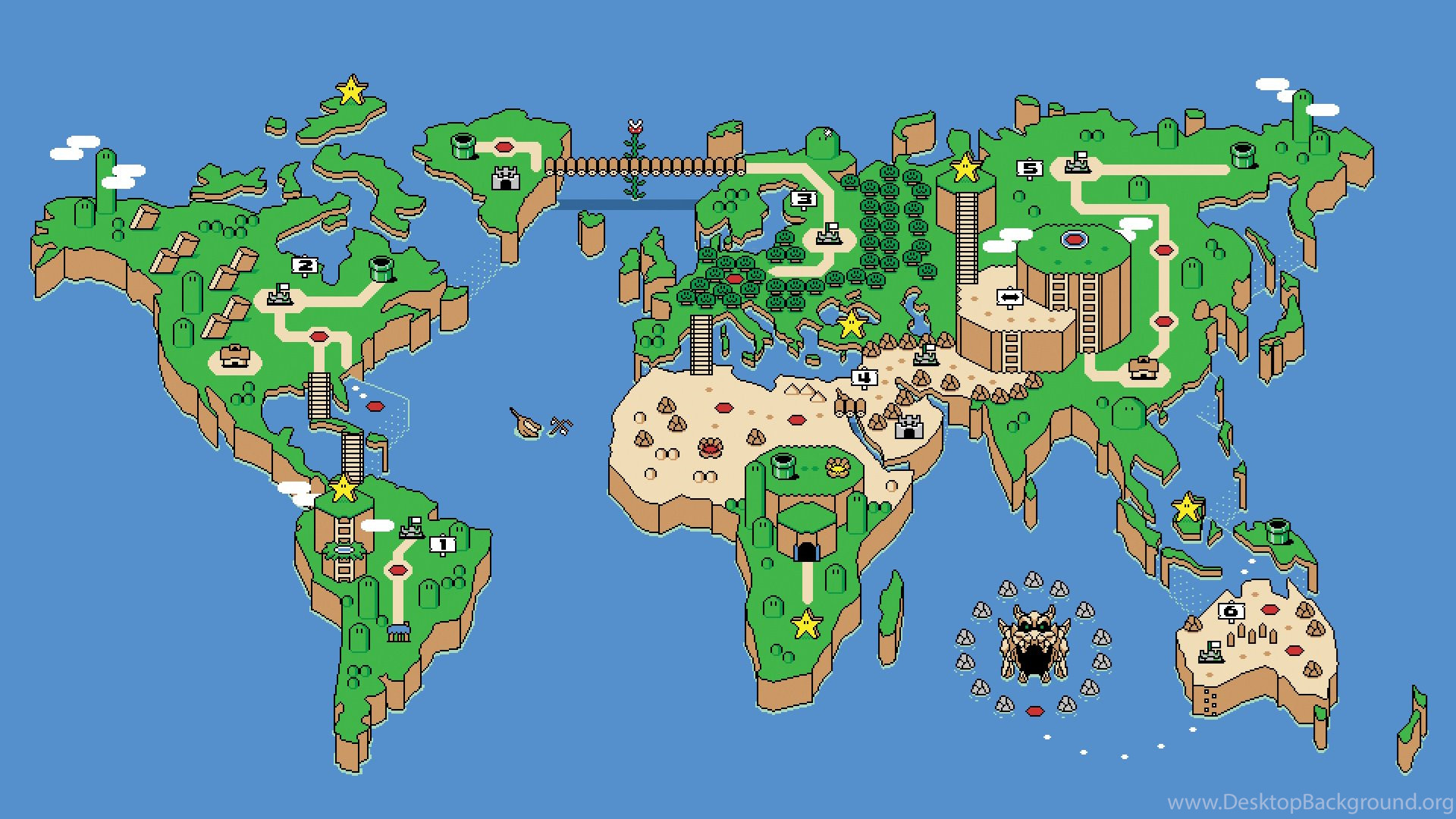 World Map Desktop Wallpaper
